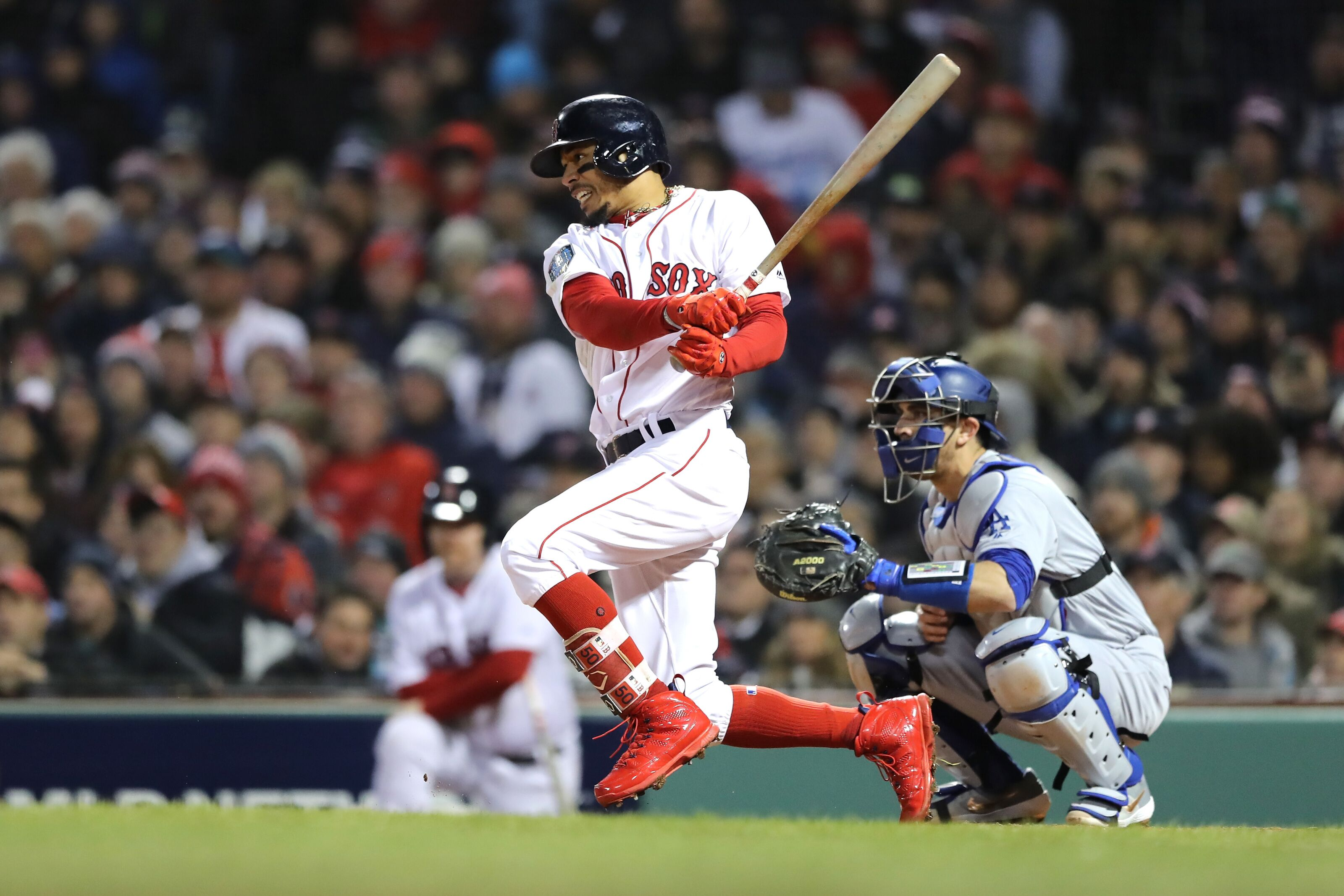 Red Sox showing no concern with Mookie Betts approaching free agency