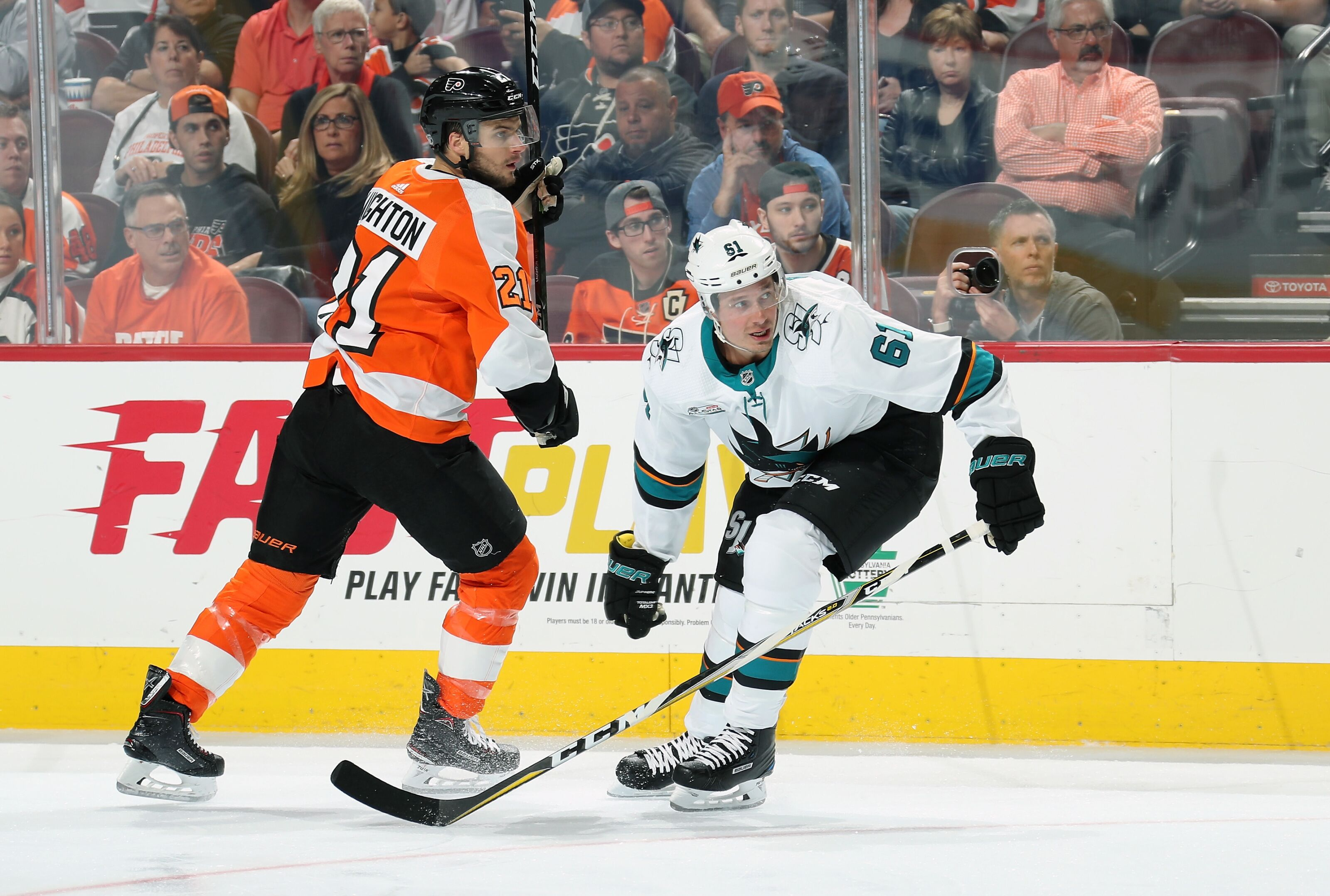 Philadelphia Flyers Acquire Justin Braun From San Jose Sharks