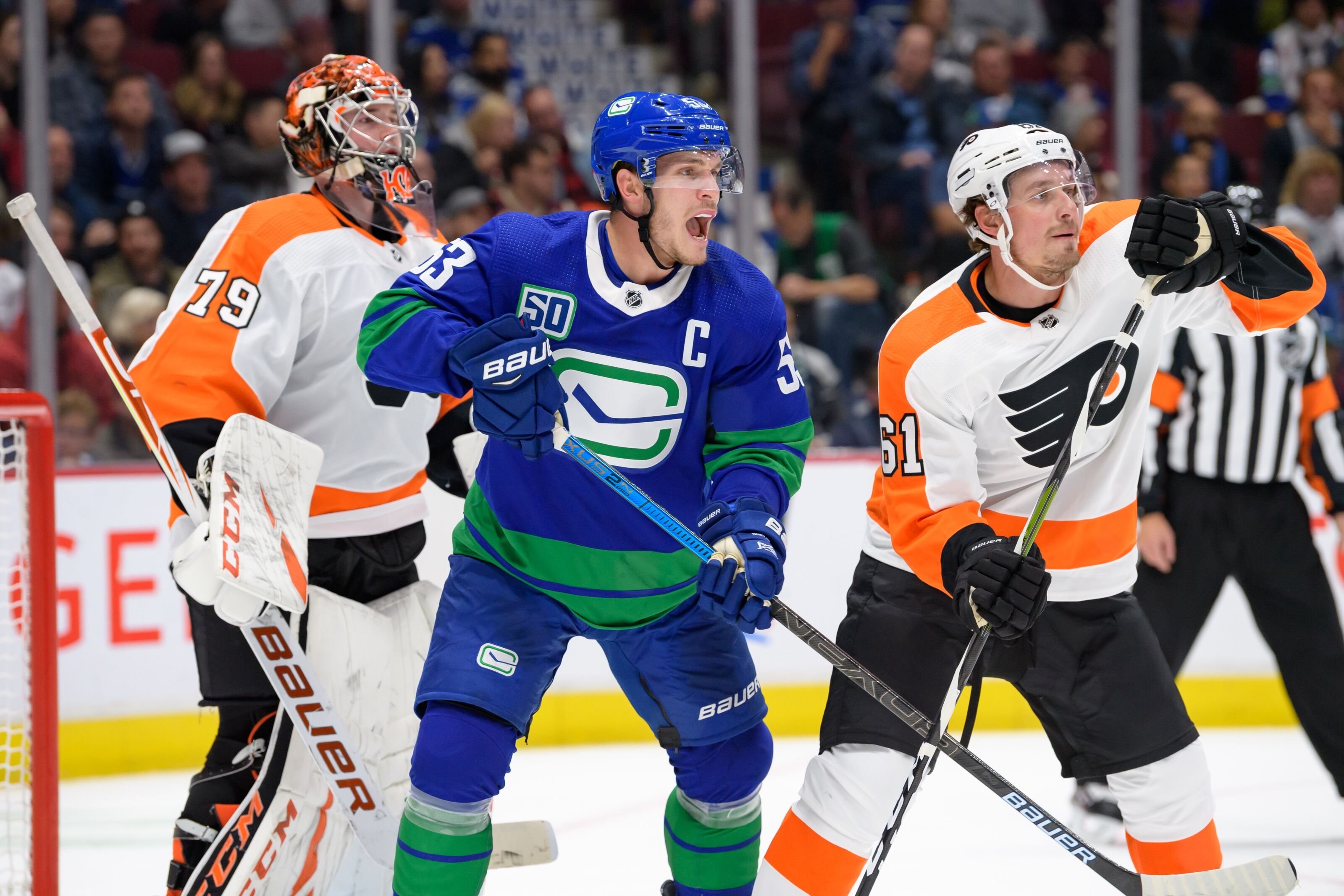 Philadelphia Flyers Fall To Vancouver Canucks 3-2 In A Shootout