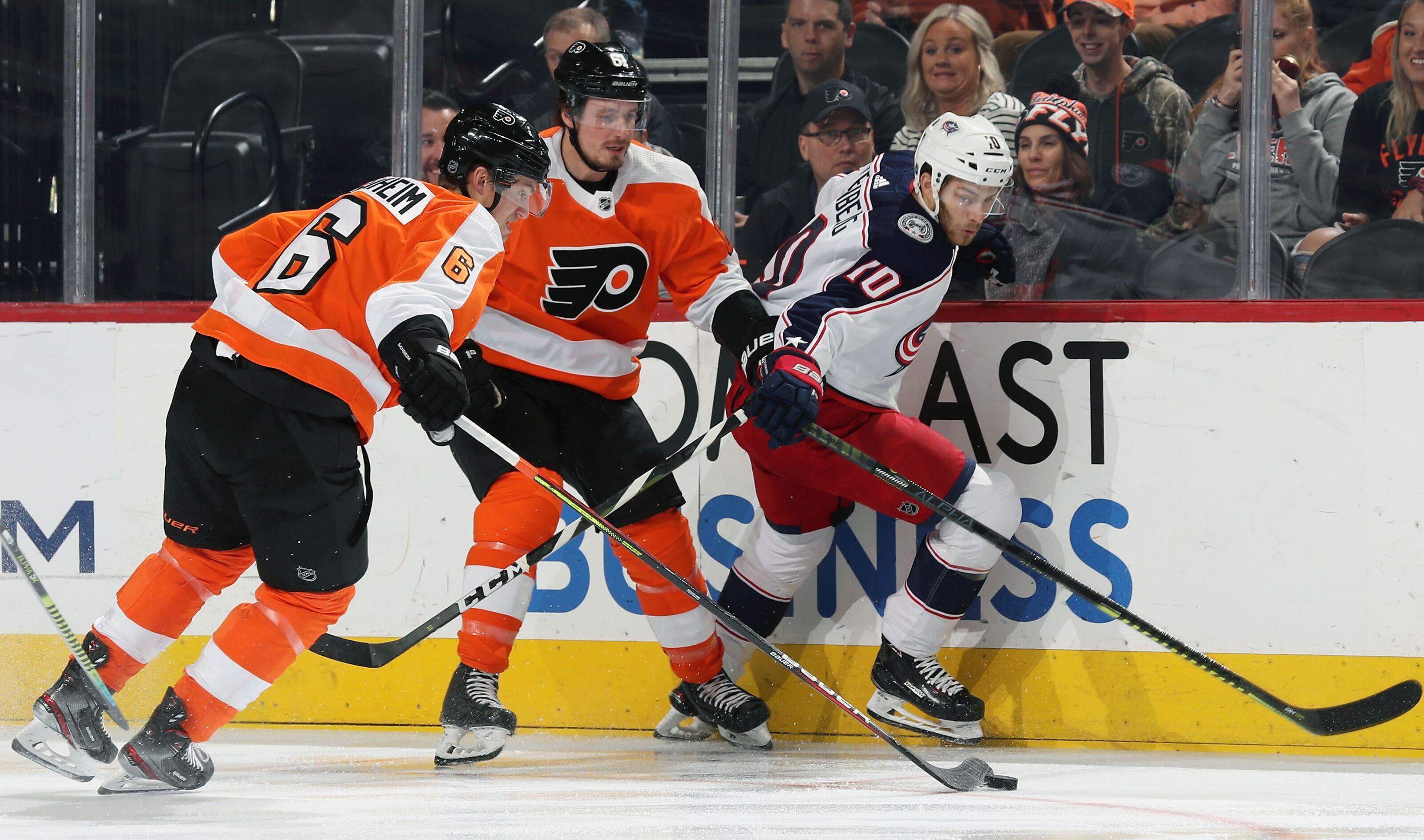 Flyers' Travis Sanheim, Justin Braun Among NHL's Best Defensive Pairs