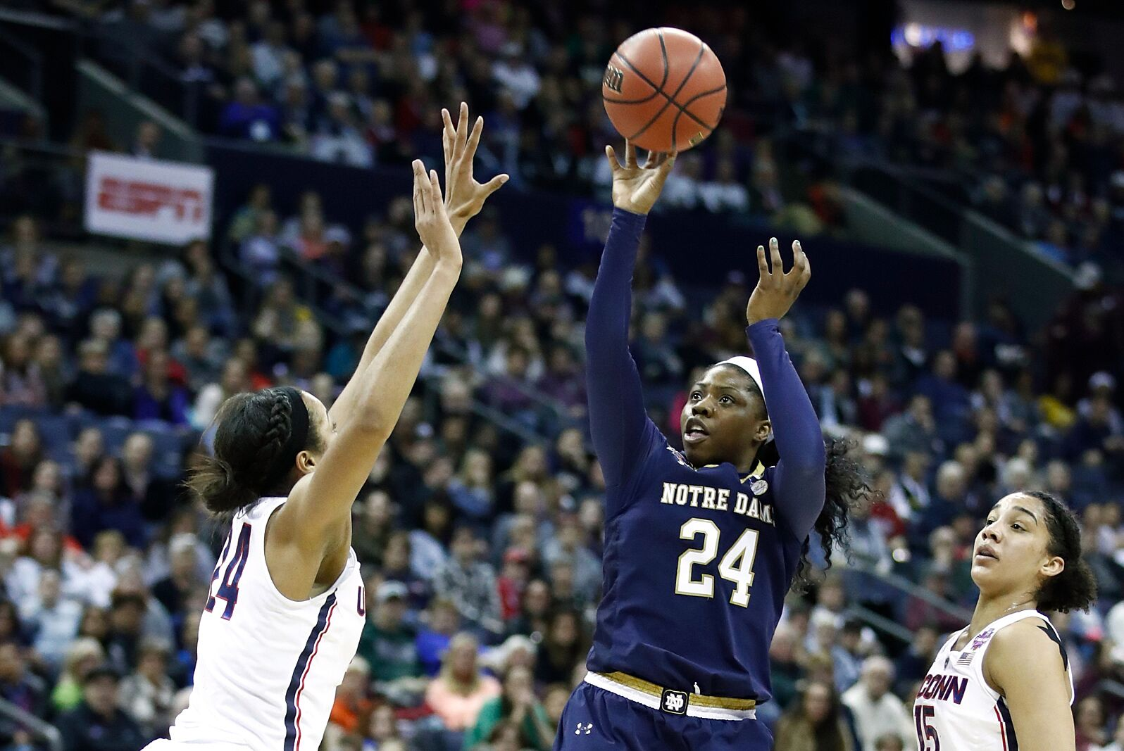 ncaa women's basketball: no. 2 uconn versus no. 1 notre dame