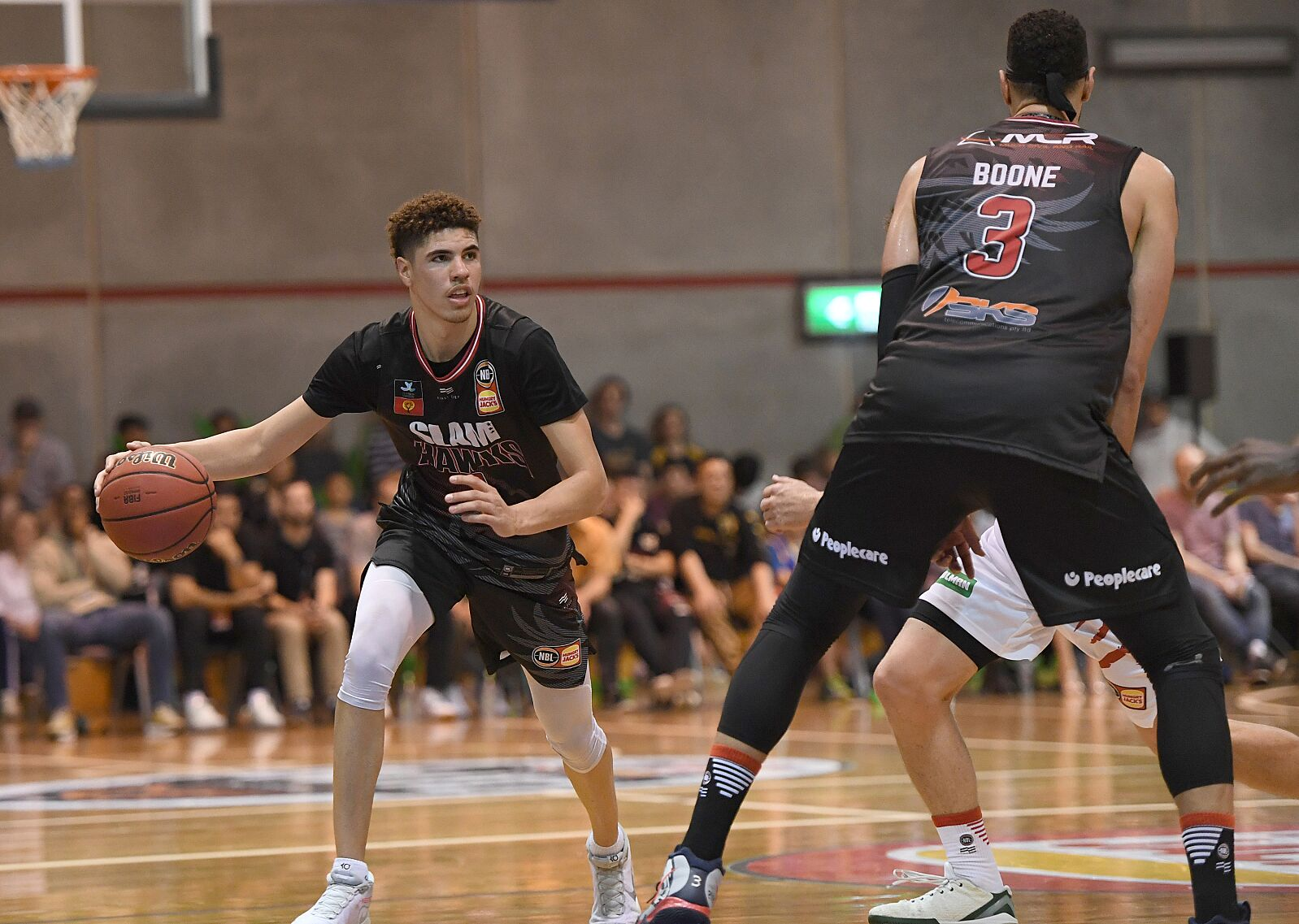 NBA Draft 2020: LaMelo Ball playing with former college hoop stars