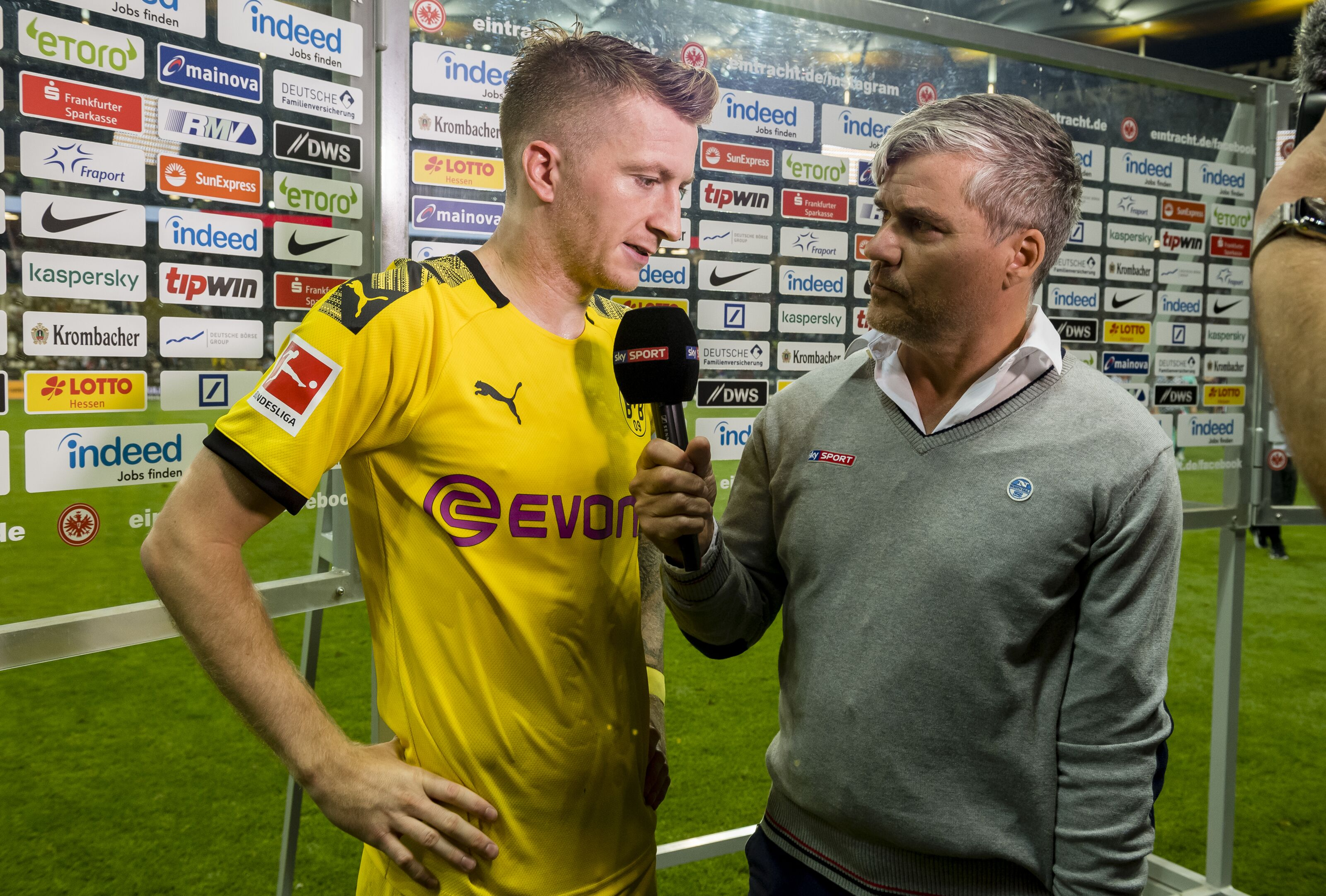 Marco Reus hits out at reporter questioning Borussia Dortmund's mentality after Eintracht Frankfurt draw