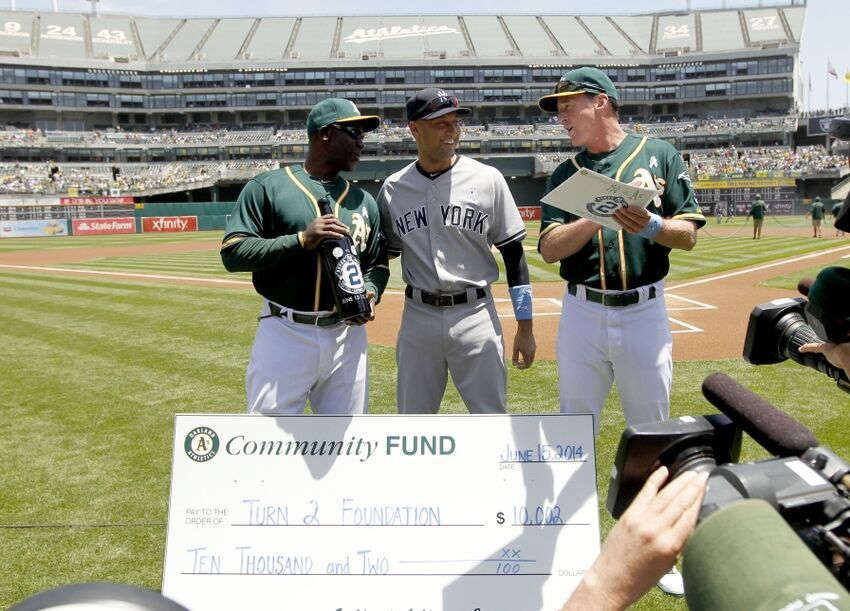e0b2c3fb5a1 Derek Jeter s farewell tour gifts list and his weekend vs. the Athletics