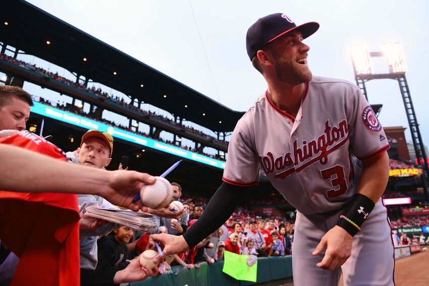 80986c467 Bryce Harper Signs Big Extension With Under Armour