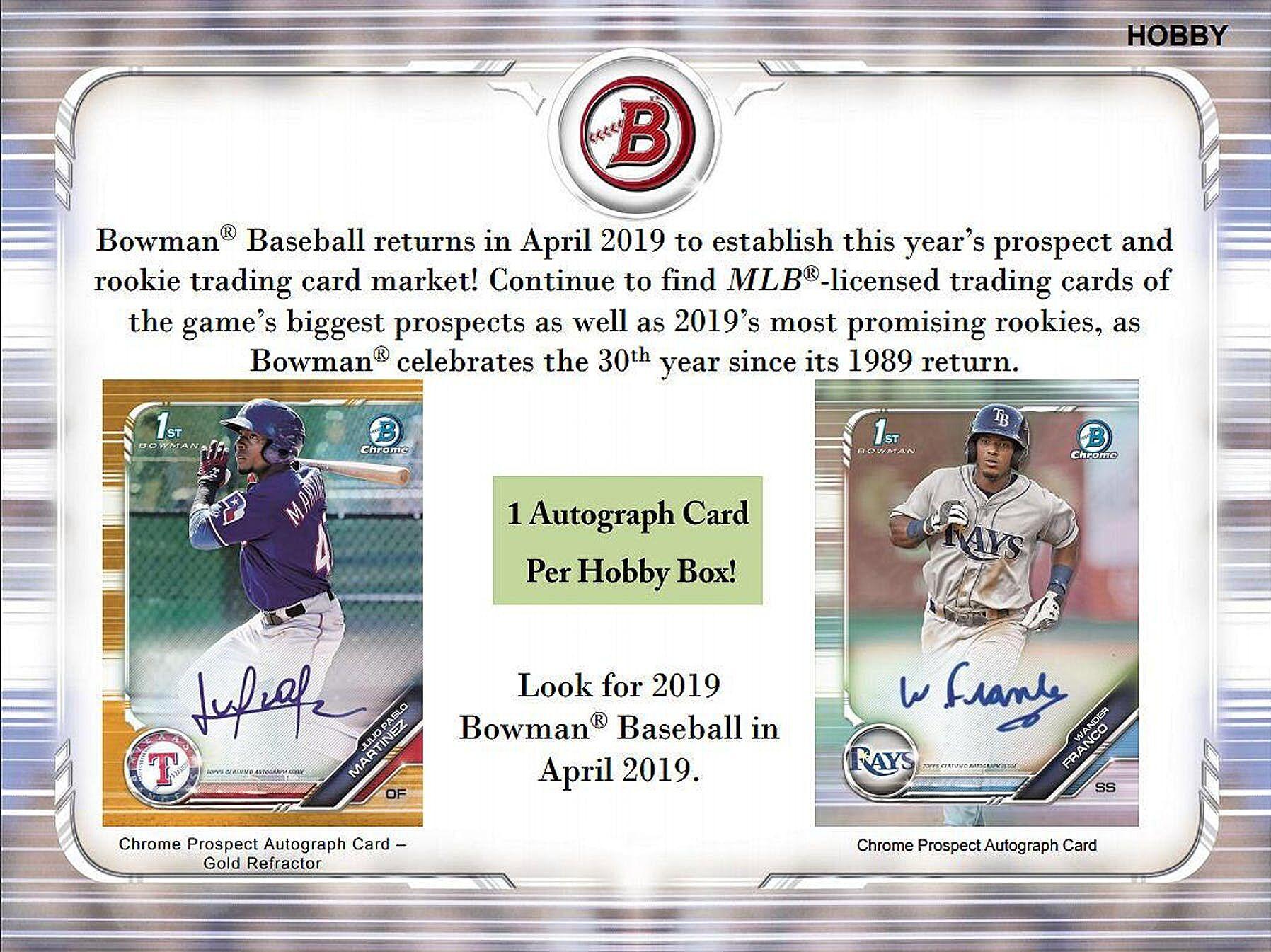 Bowman Baseball 2019 Review