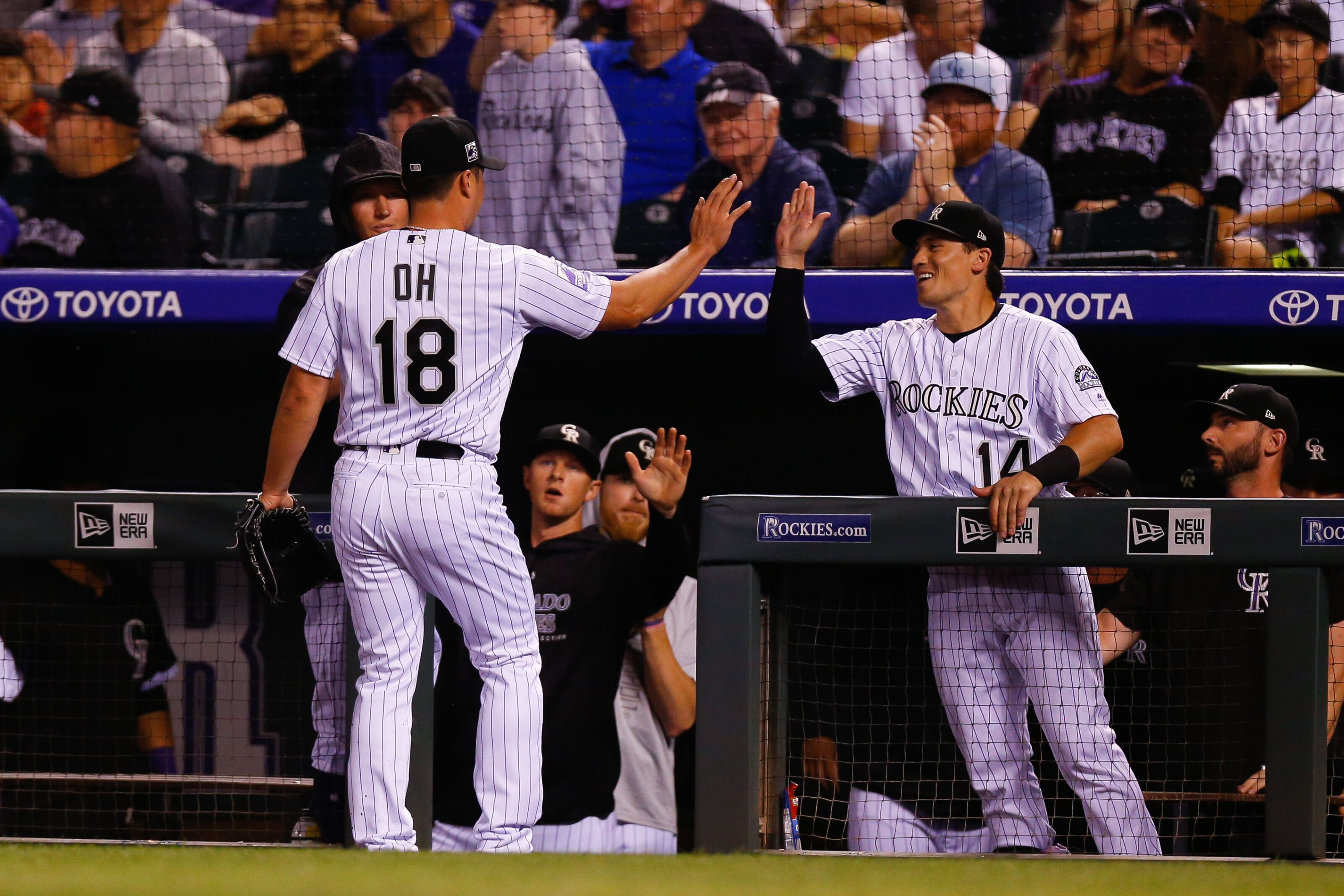 bde3c5ae5 Colorado Rockies Seunghwan Oh has hilarious message on jersey