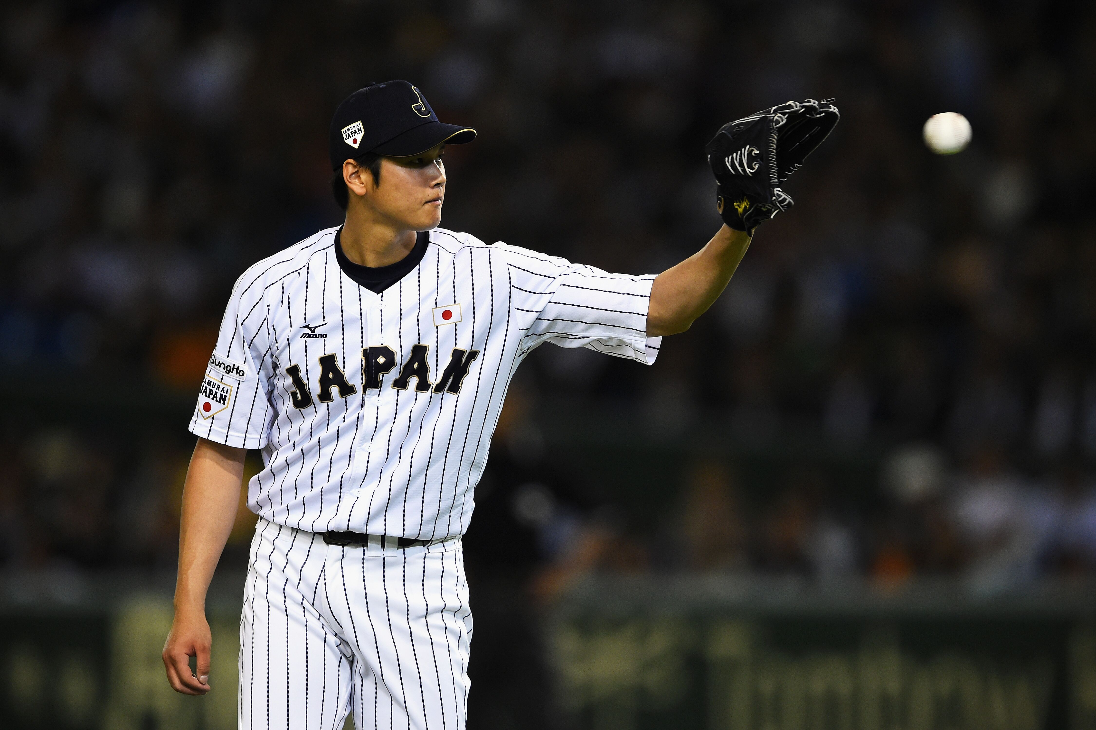 Giancarlo Stanton Stats 2017 >> Los Angeles Angels: Shohei Ohtani makes his choice to wear a halo