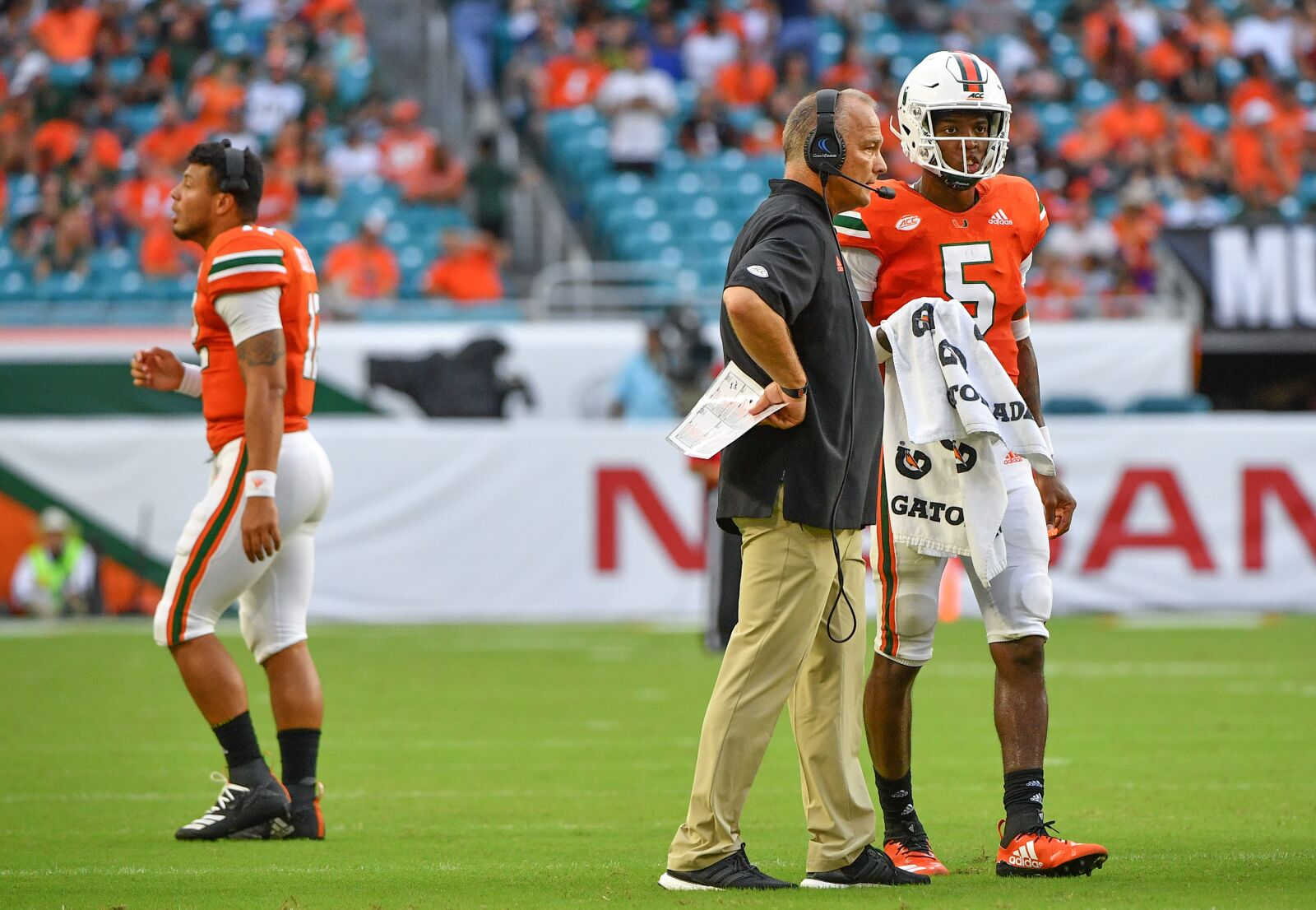 Mark Richt comments seem more genuine about Miami QB than OTs