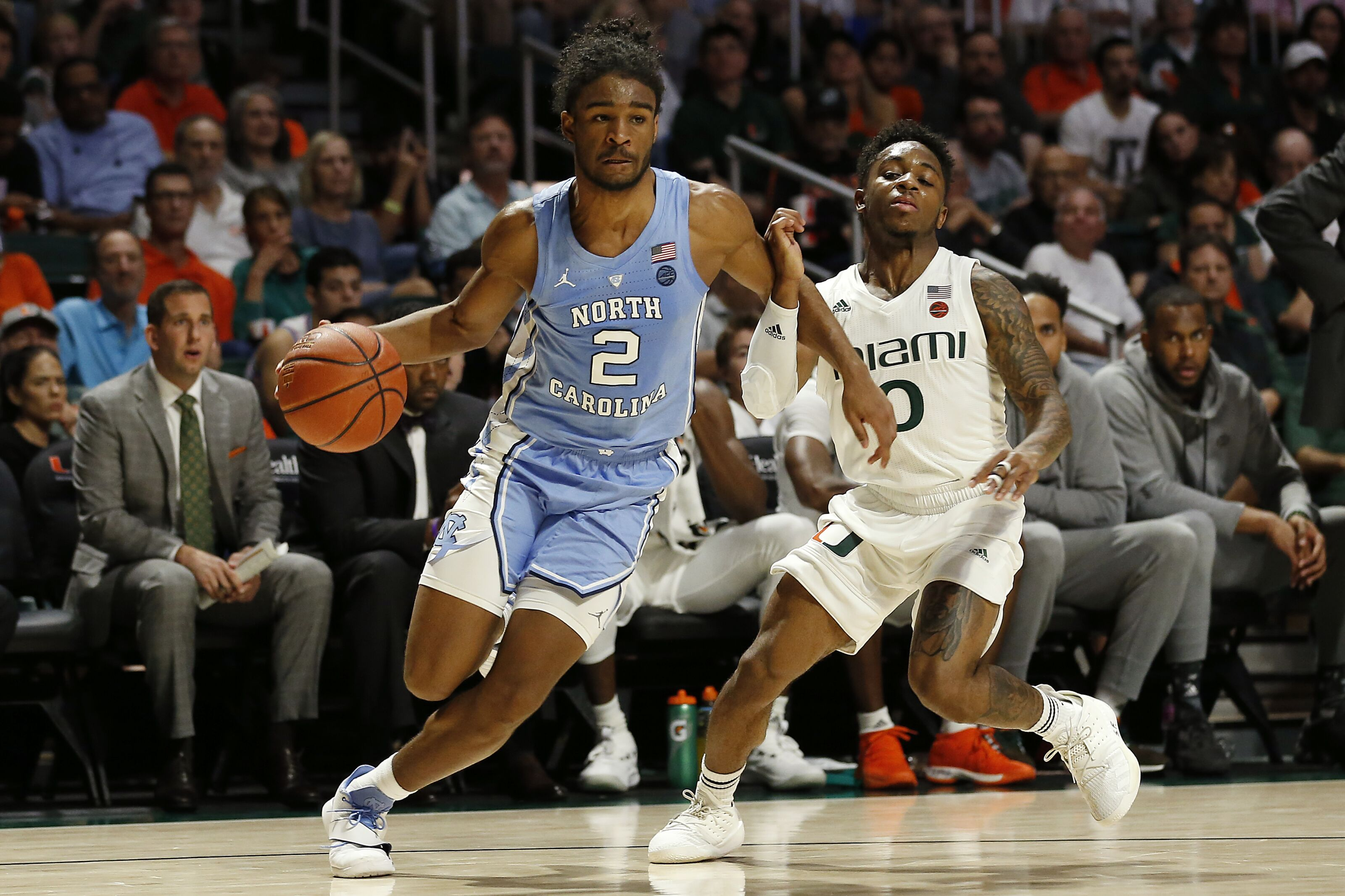 Miami basketball fades again late in loss to North Carolina
