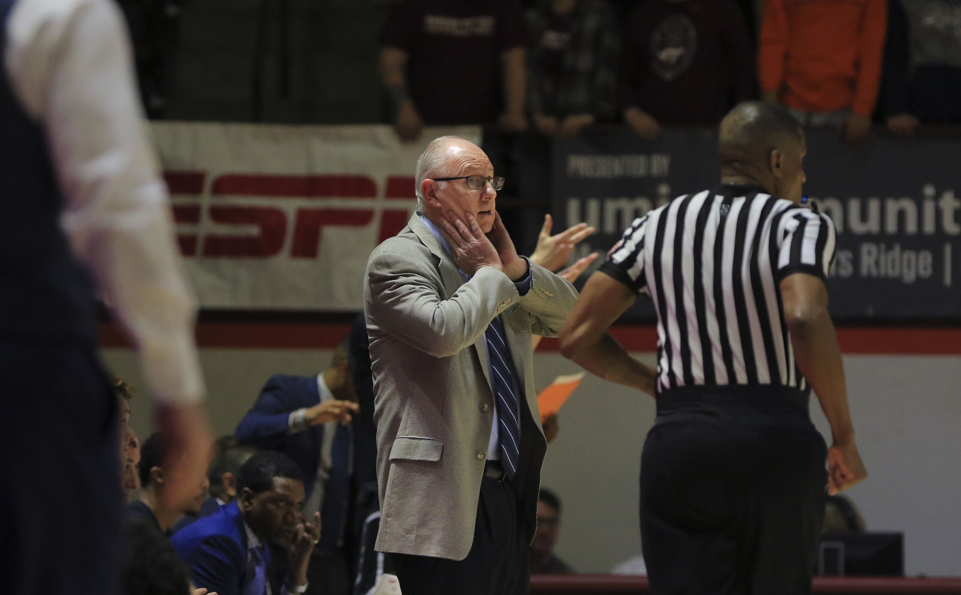 Miami basketball head coach Jim Larranaga out versus Alabama A&M