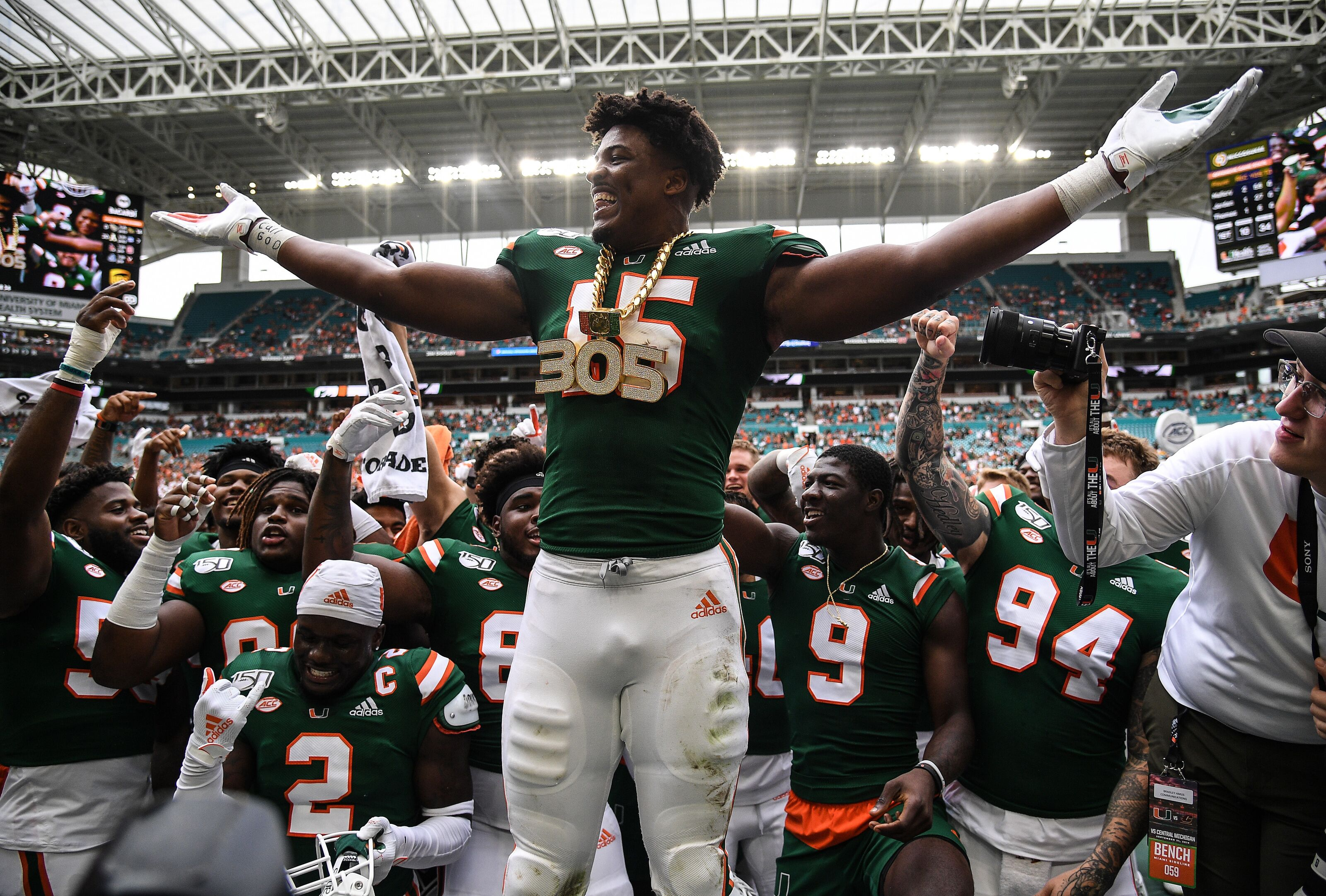 Miami football players awareness on field will create playing time