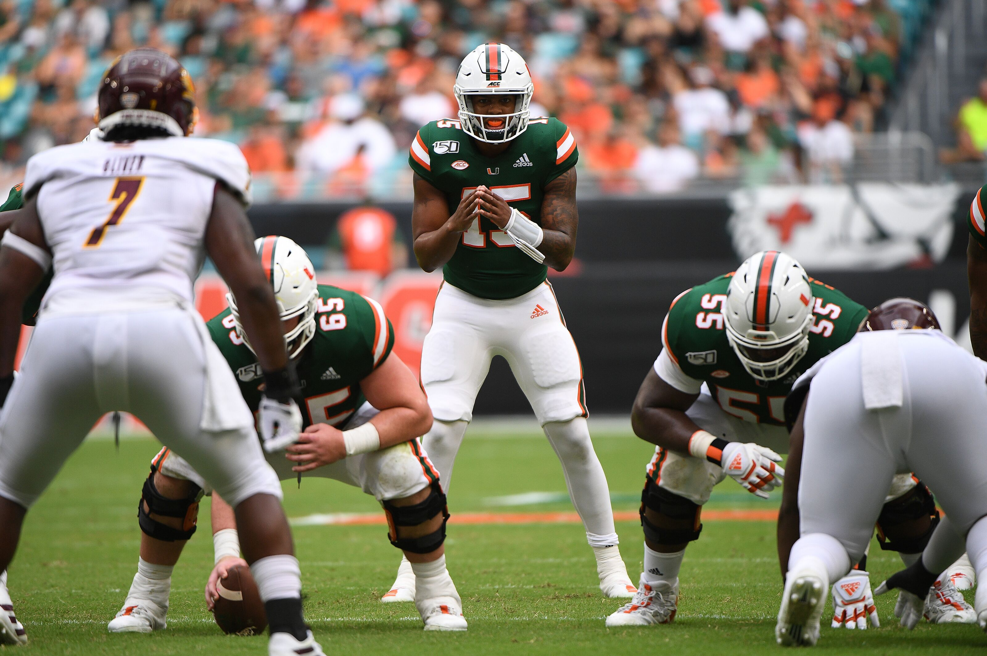 Miami football continually hindered by penalties and poor offensive line play