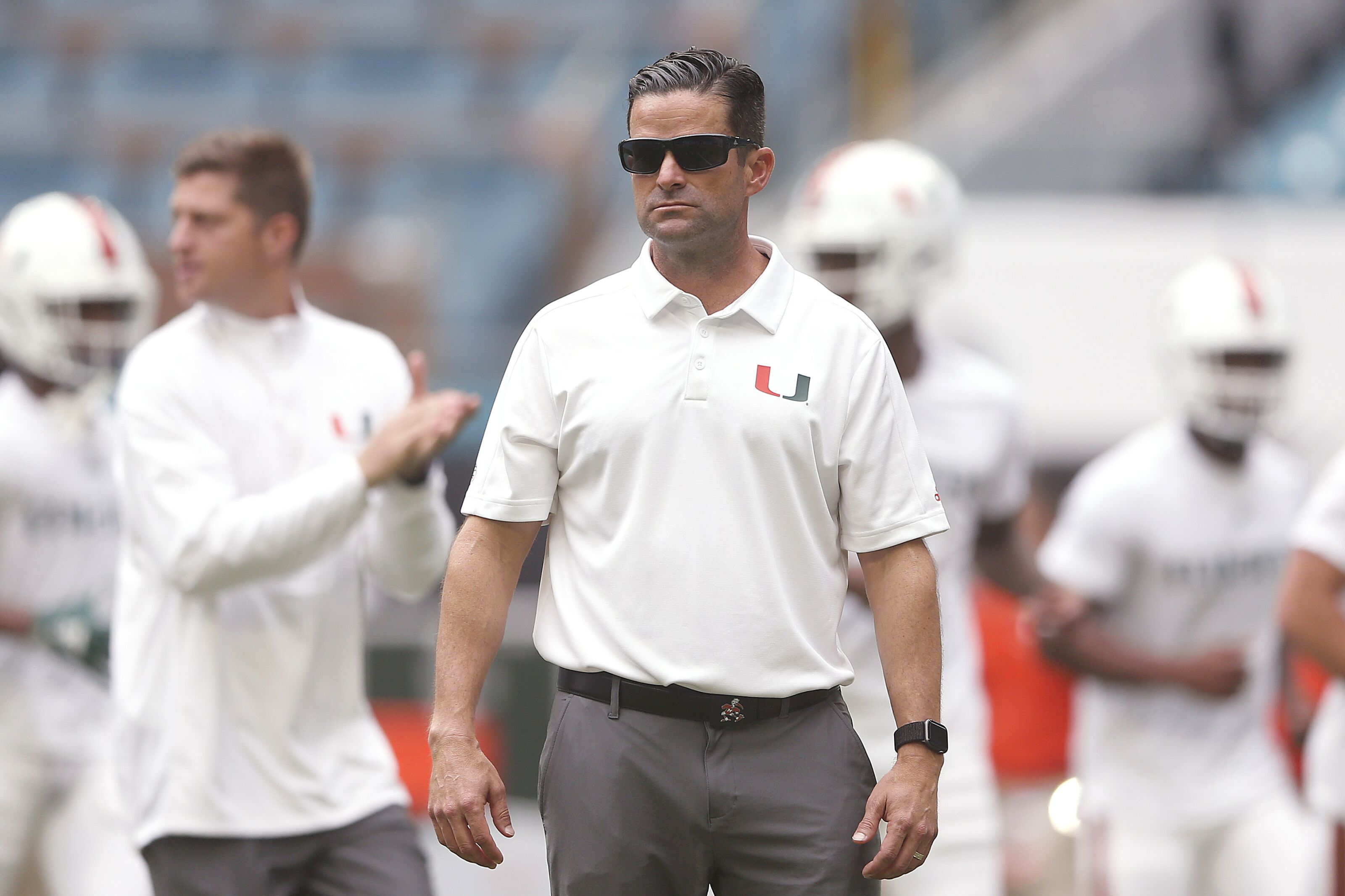 Miami football fan flies banner supporting Manny Diaz