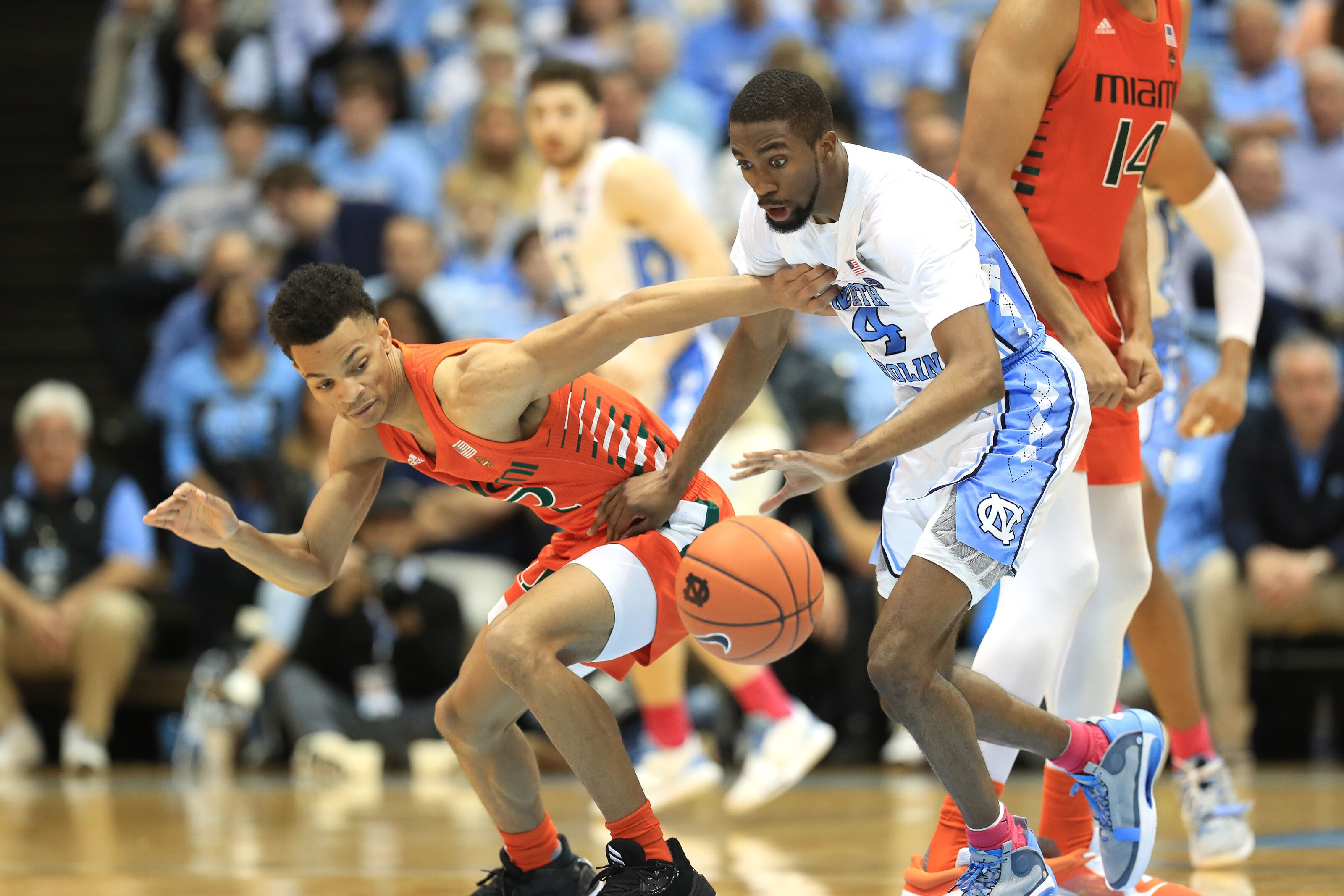 Depleted Miami Basketball overwhelmed in loss at North Carolina