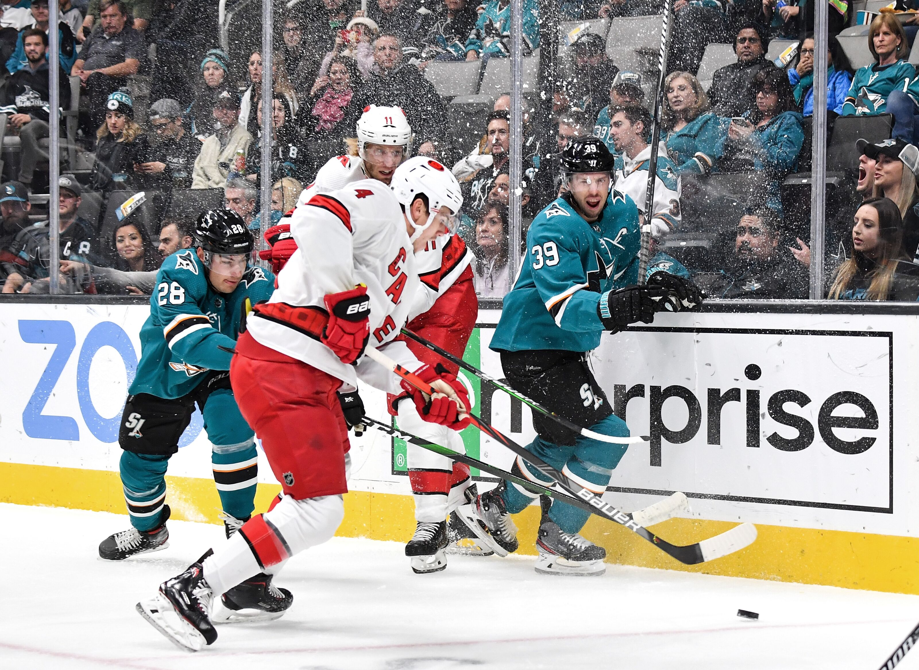 Carolina Hurricanes Drop Game for Second Time this Season to Sharks