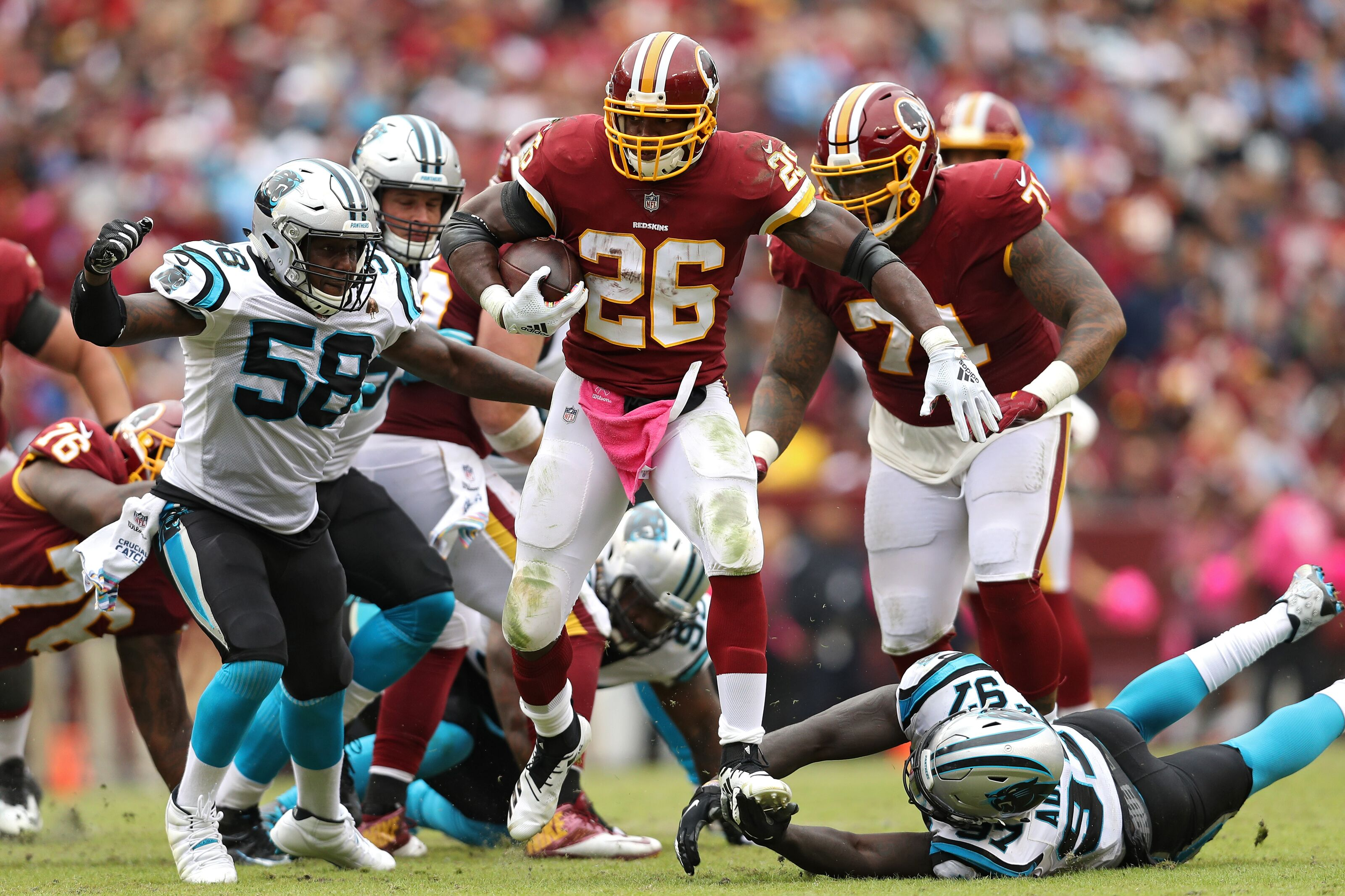 cde5a530 Panthers lose to Redskins behind conservative playcalls, missed chances