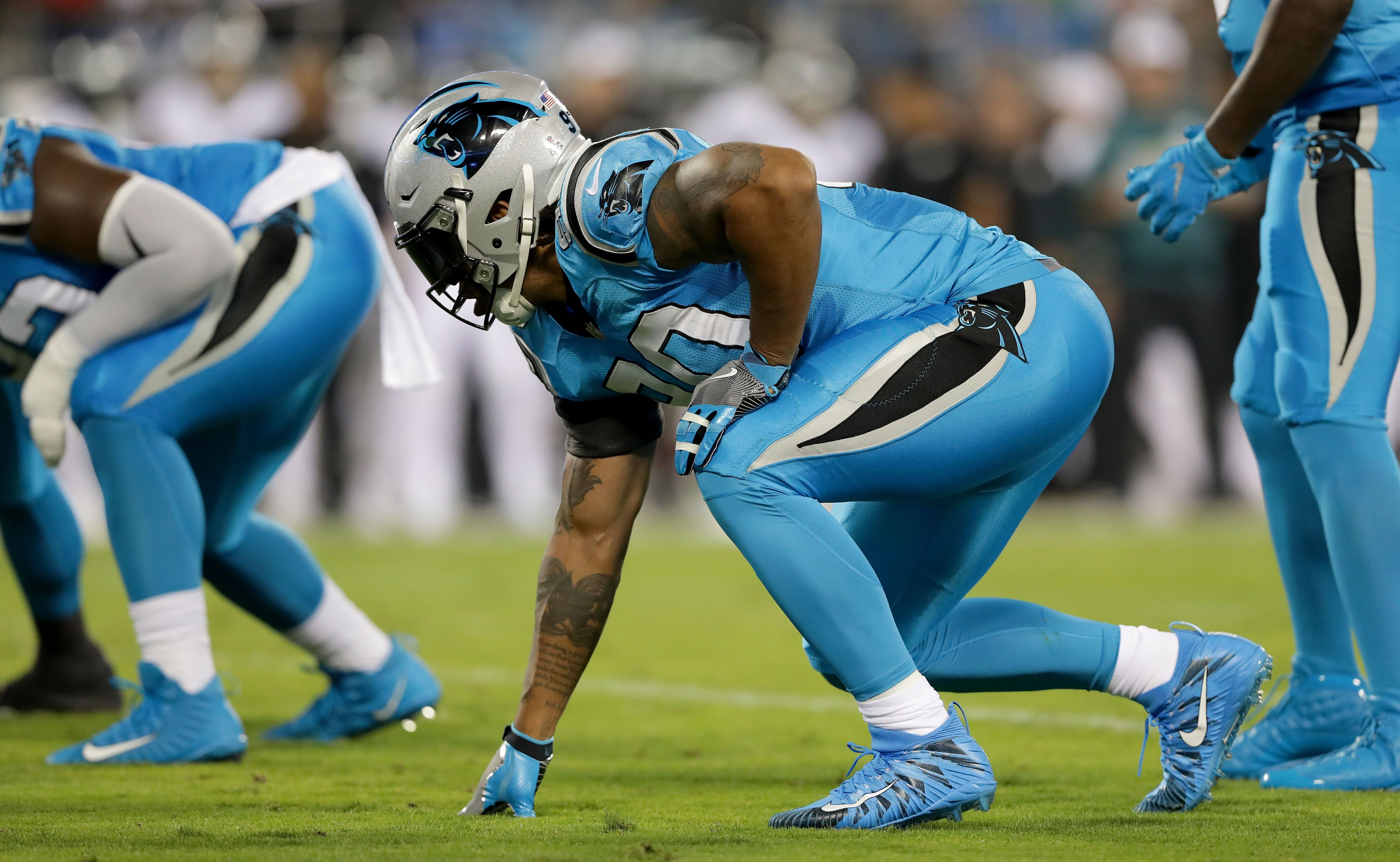 newest de93c fed83 Carolina Panthers legend Julius Peppers continues to give back
