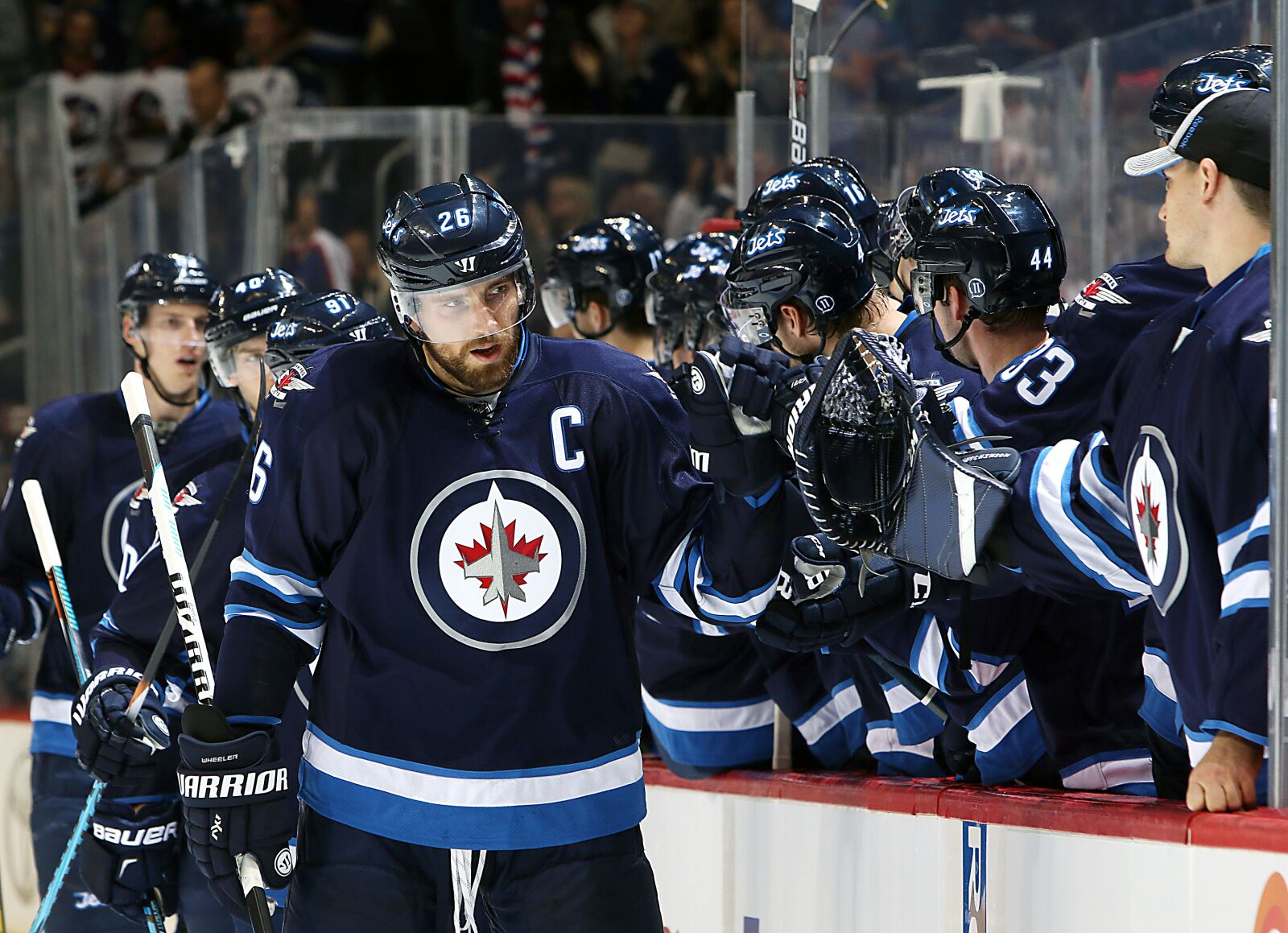 Former Boston Bruins Forward Blake Wheeler Leading Winnipeg 983c74496