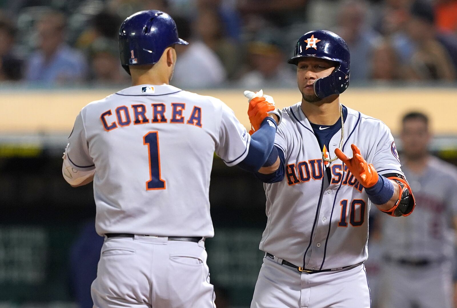 The Houston Astros lose a home run derby to the Oakland A's 7-6