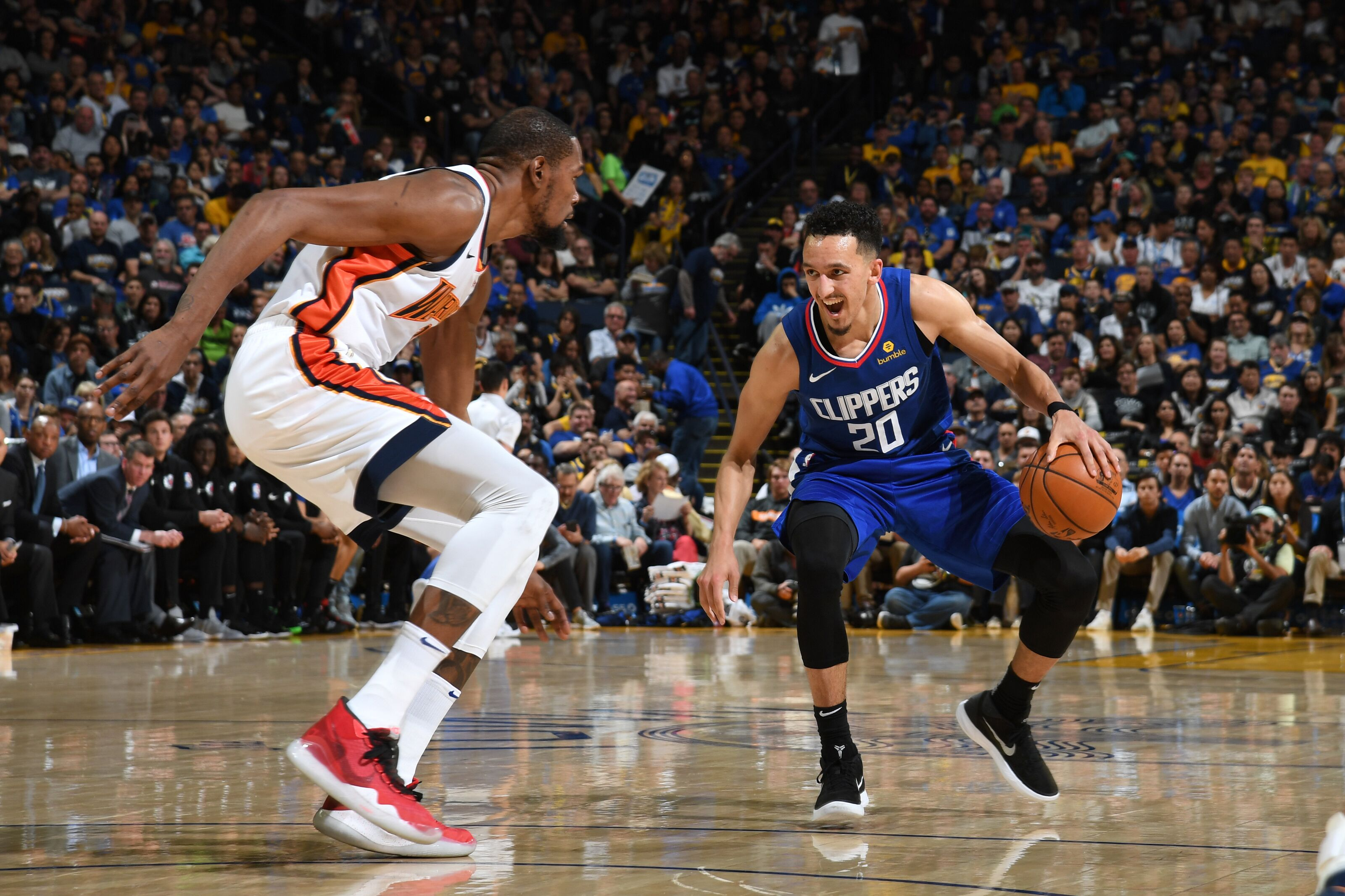 9711f86a860 LA Clippers  Landry Shamet Catches Kevin Durant s Attention