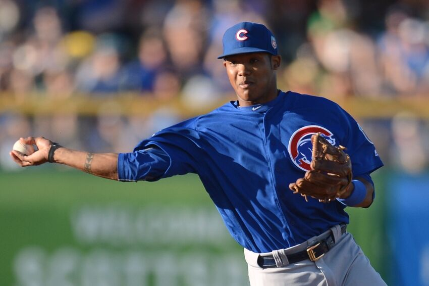 Chicago Cubs Addison Russell Homers In 5 2 Loss To