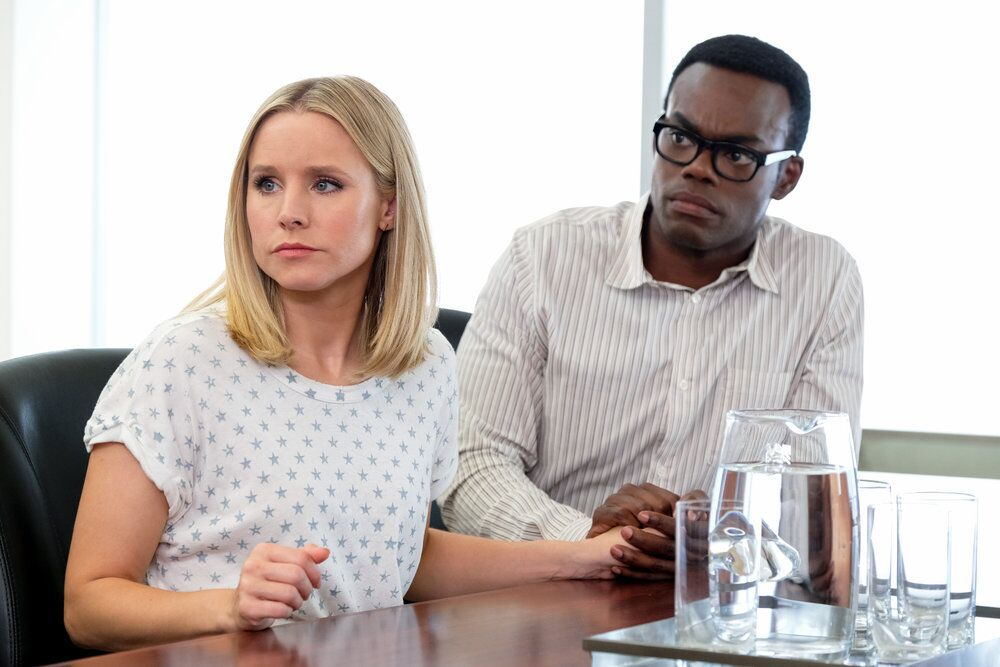 The Good Place preview: The International Hole of Pancakes meeting