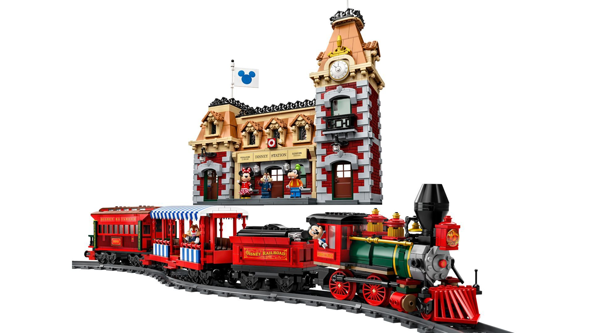 You can go on a magical train ride with LEGO's new Disney set