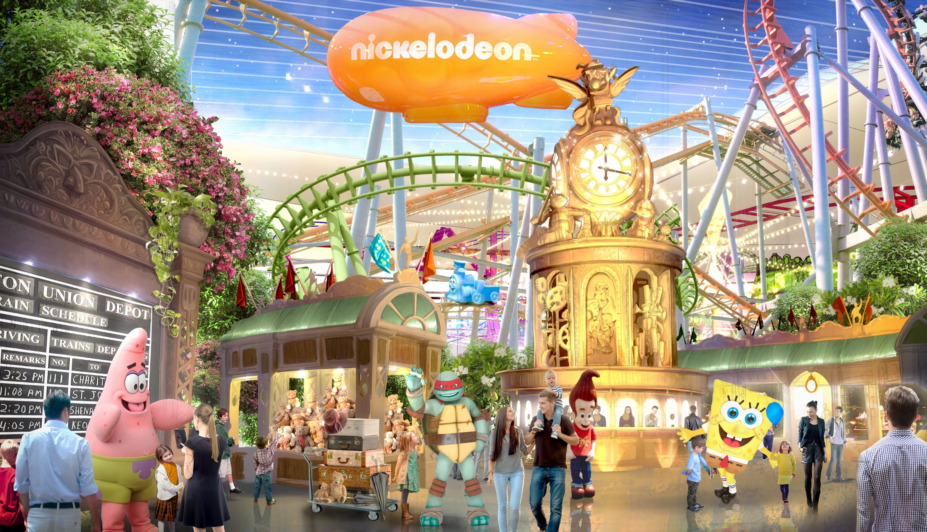 Are you ready to be slimed at Nickelodeon Universe Theme Park?
