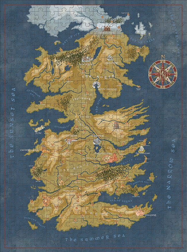 Game of thrones wants to take your bookshelf and your puzzle time over game of thrones map of westeros puzzle image provided by think jam via dark horsehbo gumiabroncs Images