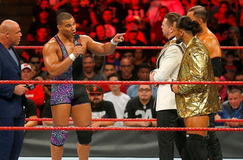 Jason Jordan Awkwardly Interrupts The Miz During His Interview With Kurt Angle Credit Wwe
