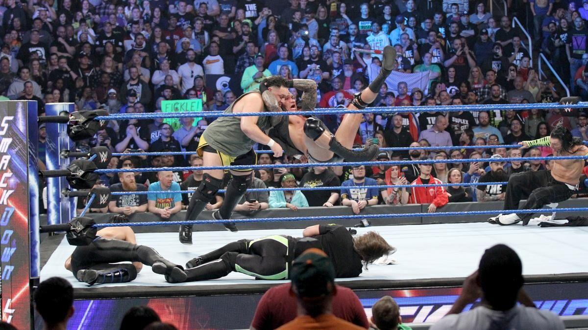 WWE SmackDown Live Randy Orton RKO Samoa Joe