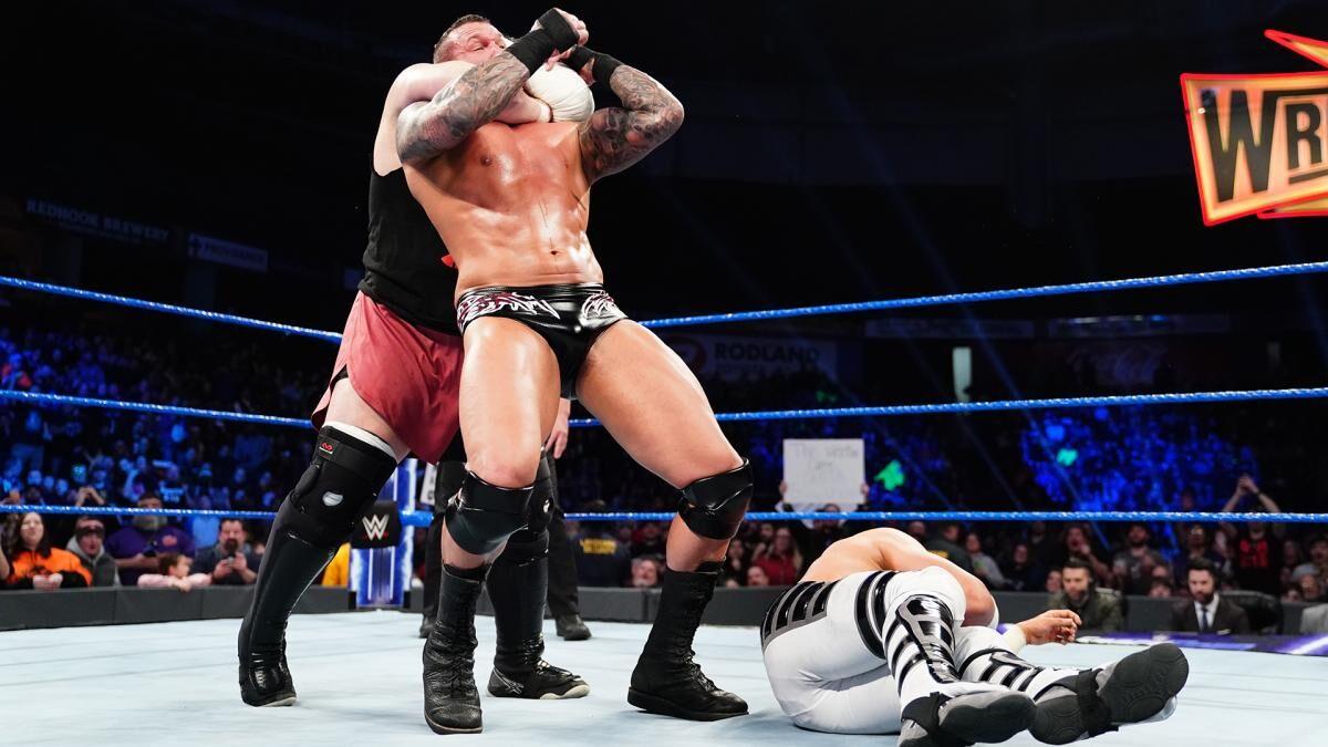 WWE SmackDown Live Samoa Joe Attacking Randy Orton