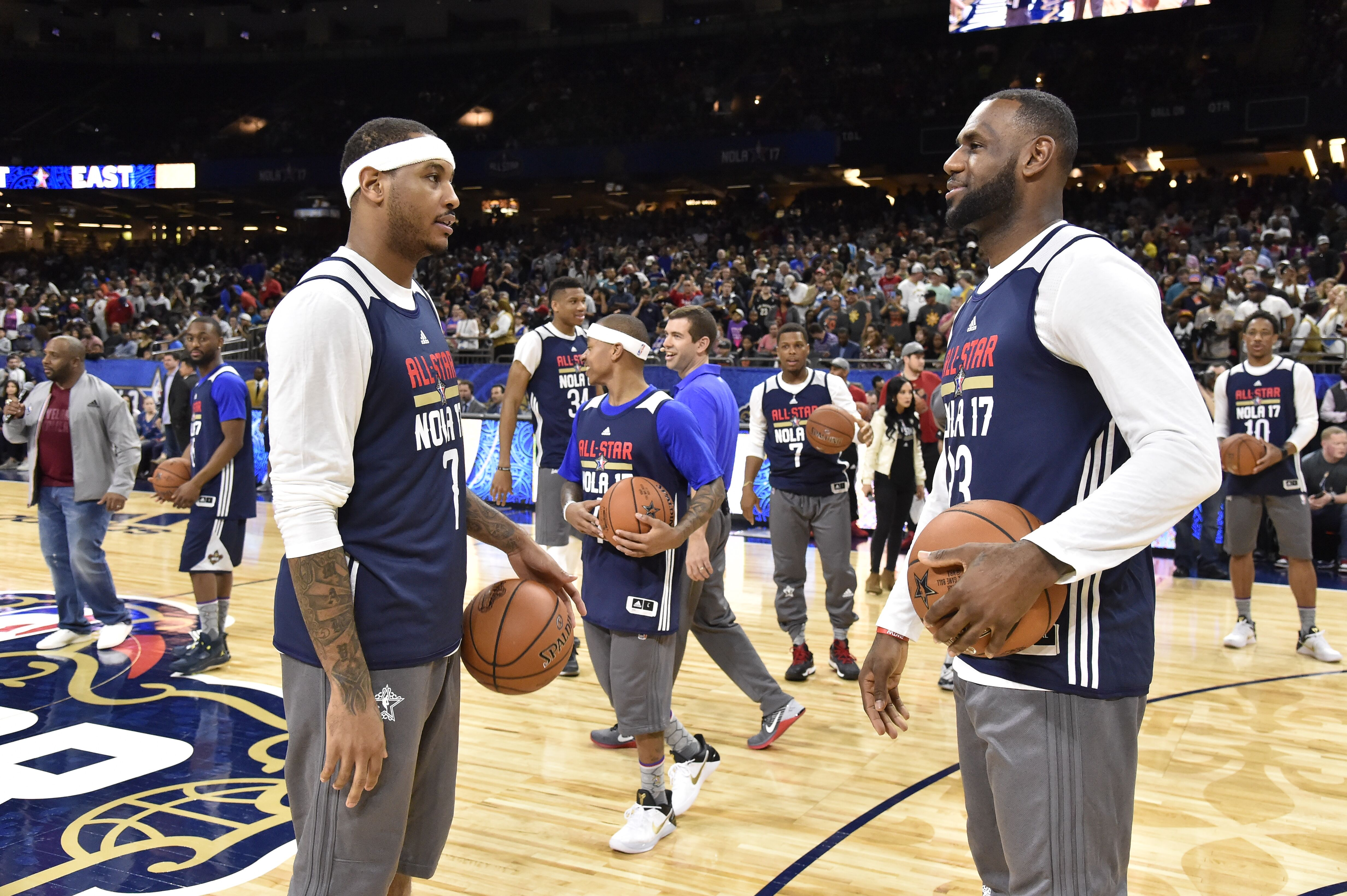 8f5029f1b79a Carmelo Anthony trains with LeBron James