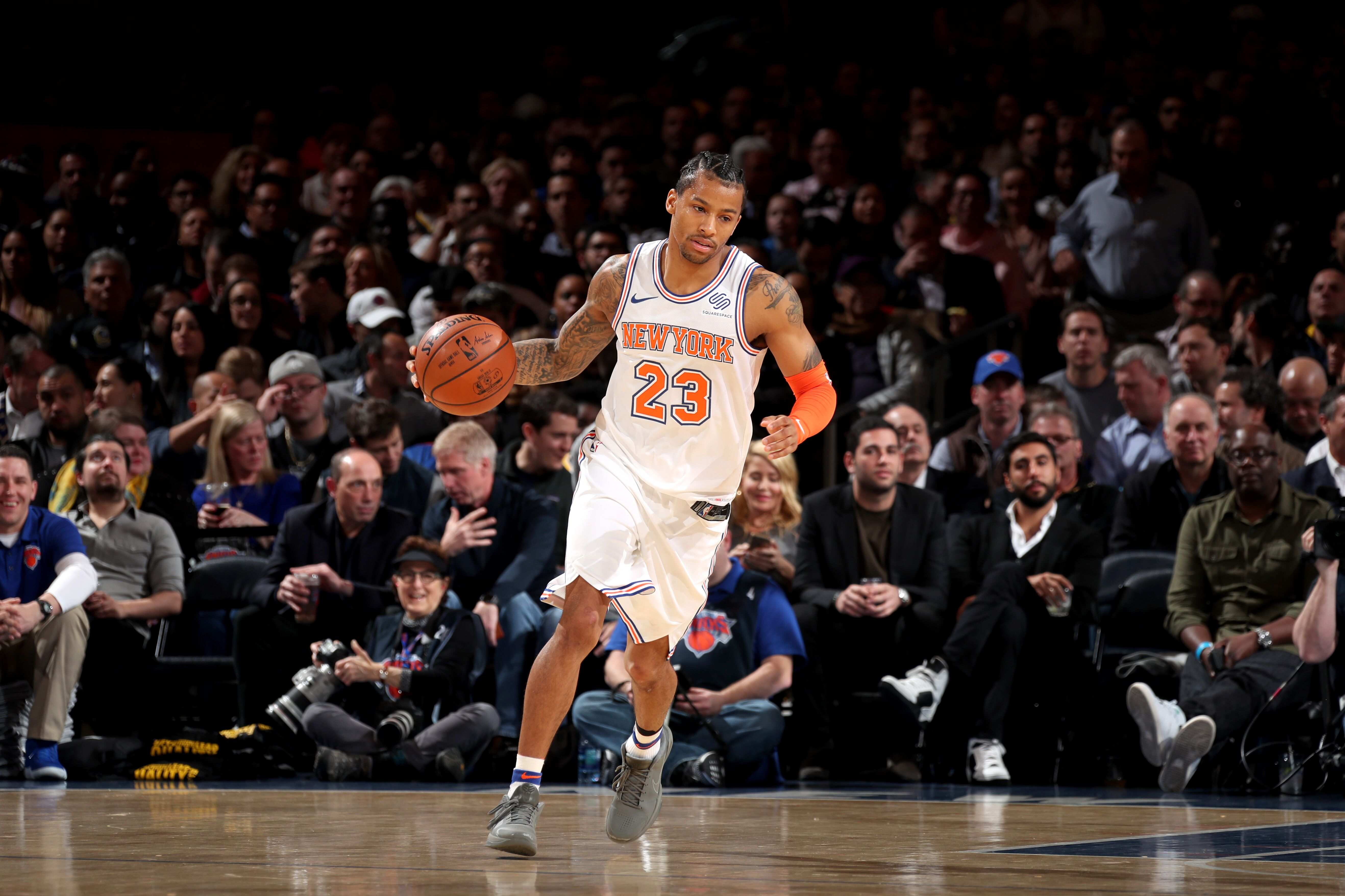 6b29b7d44 New York Knicks  The Trey Burke Show continues against the Warriors