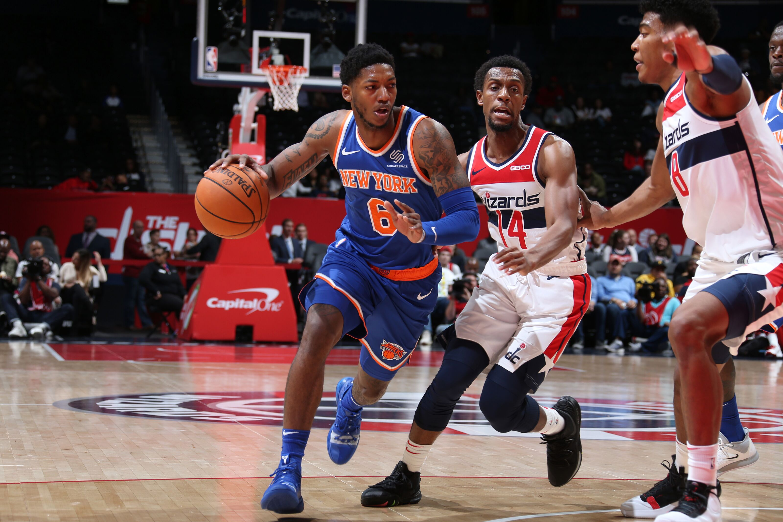 New York Knicks: Elfrid Payton, unsurprisingly, is the leader for point guard