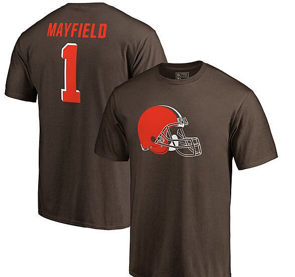 054f8e2fa44 NFL Pro Line by Fanatics Branded Baker Mayfield Cleveland Browns Name    Number T-Shirt