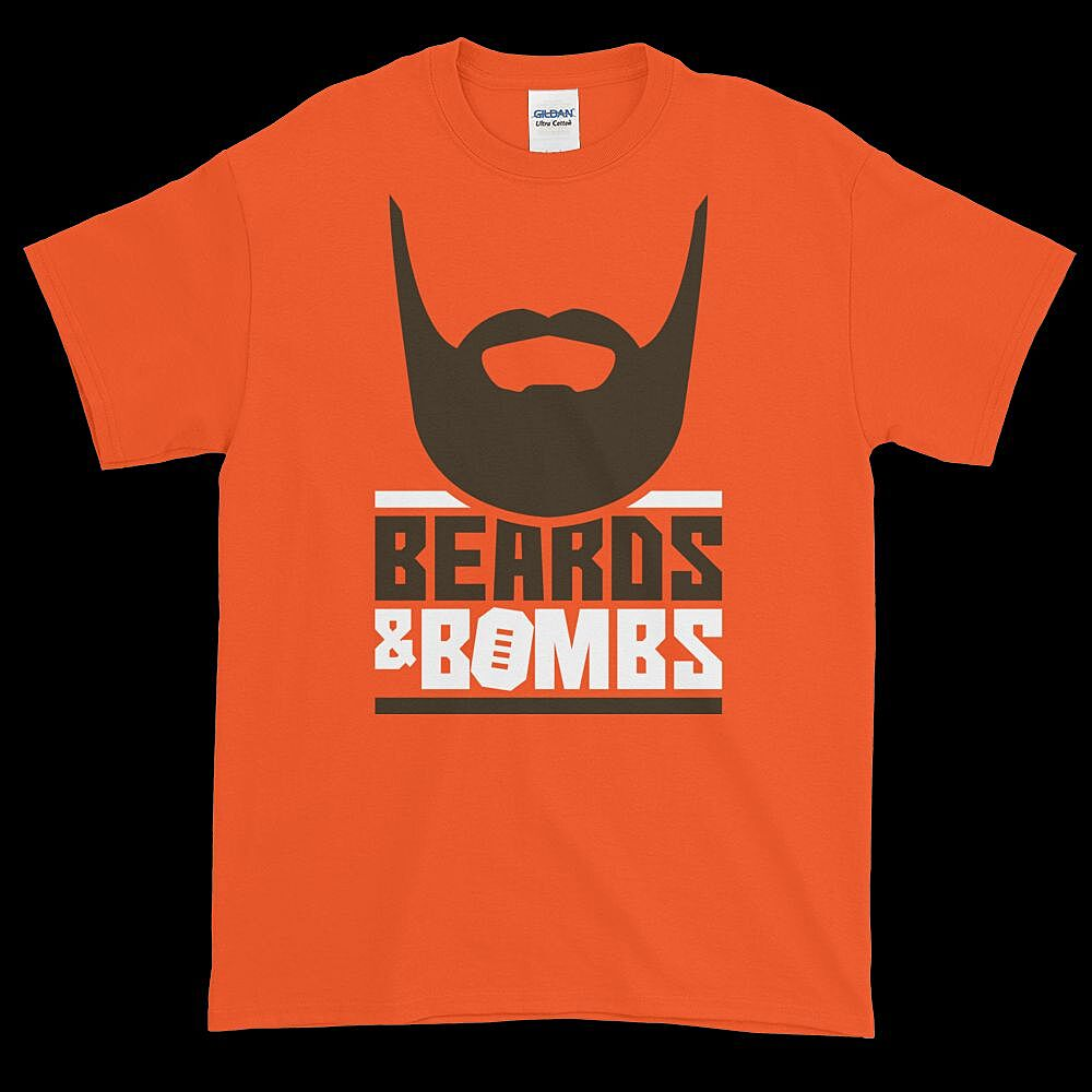 539b2bc6 Cleveland football fans need this 'Beards And Bombs' t-shirt