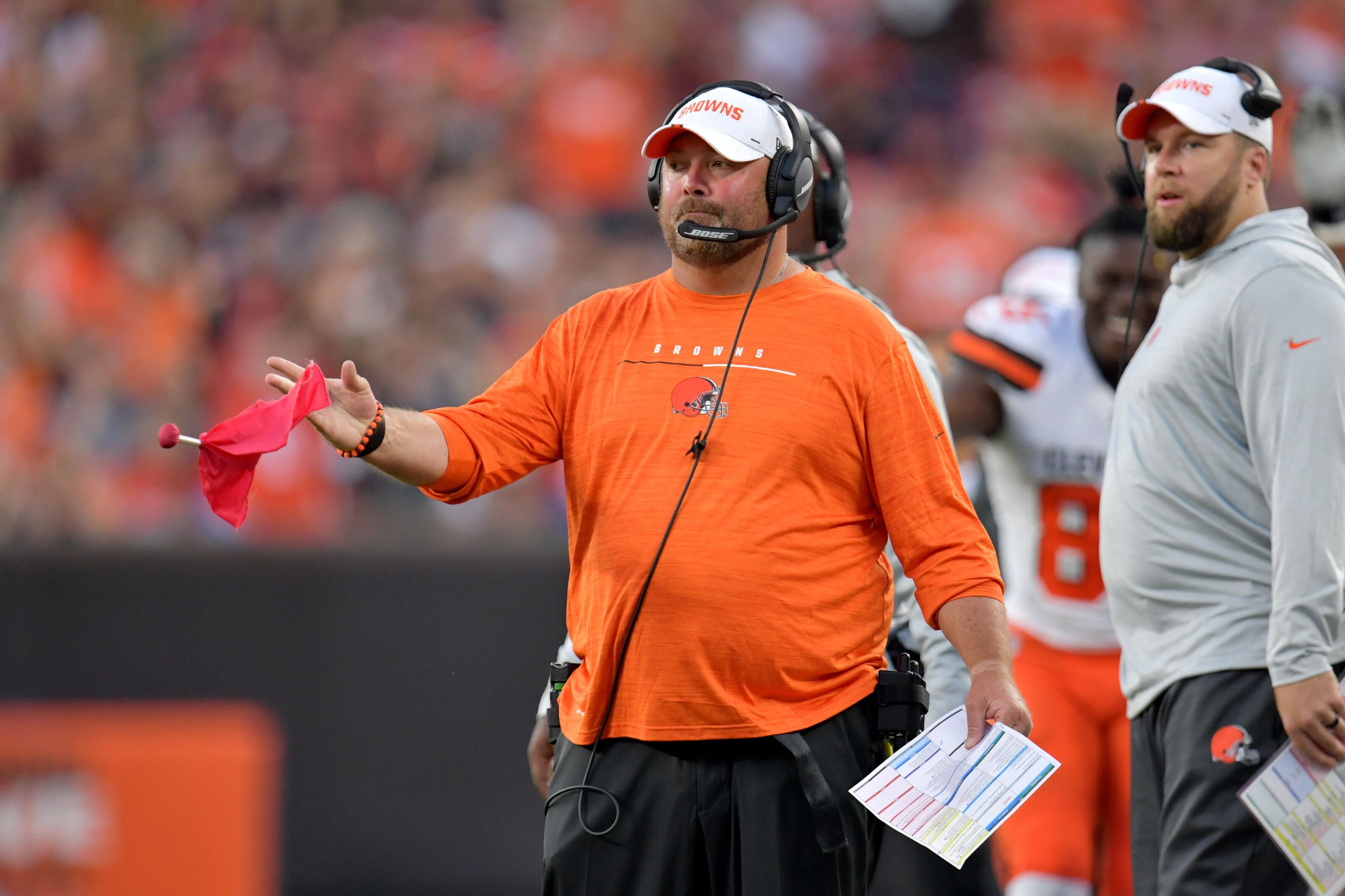 Cleveland Browns Head Coach Freddie Kitchens marching to the beat of own drum