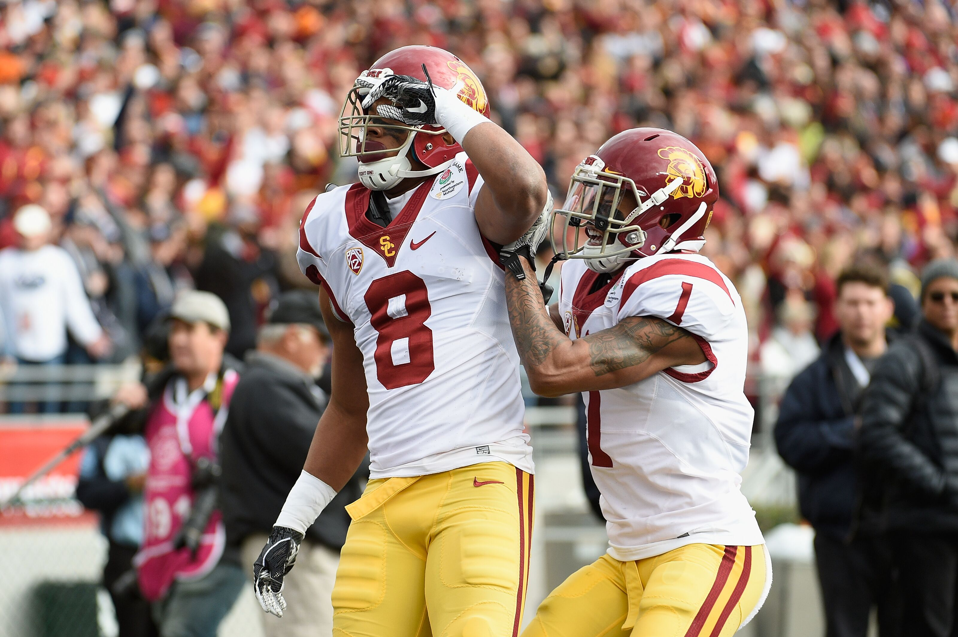 Cleveland Browns visiting with USC cornerback Iman Marshall