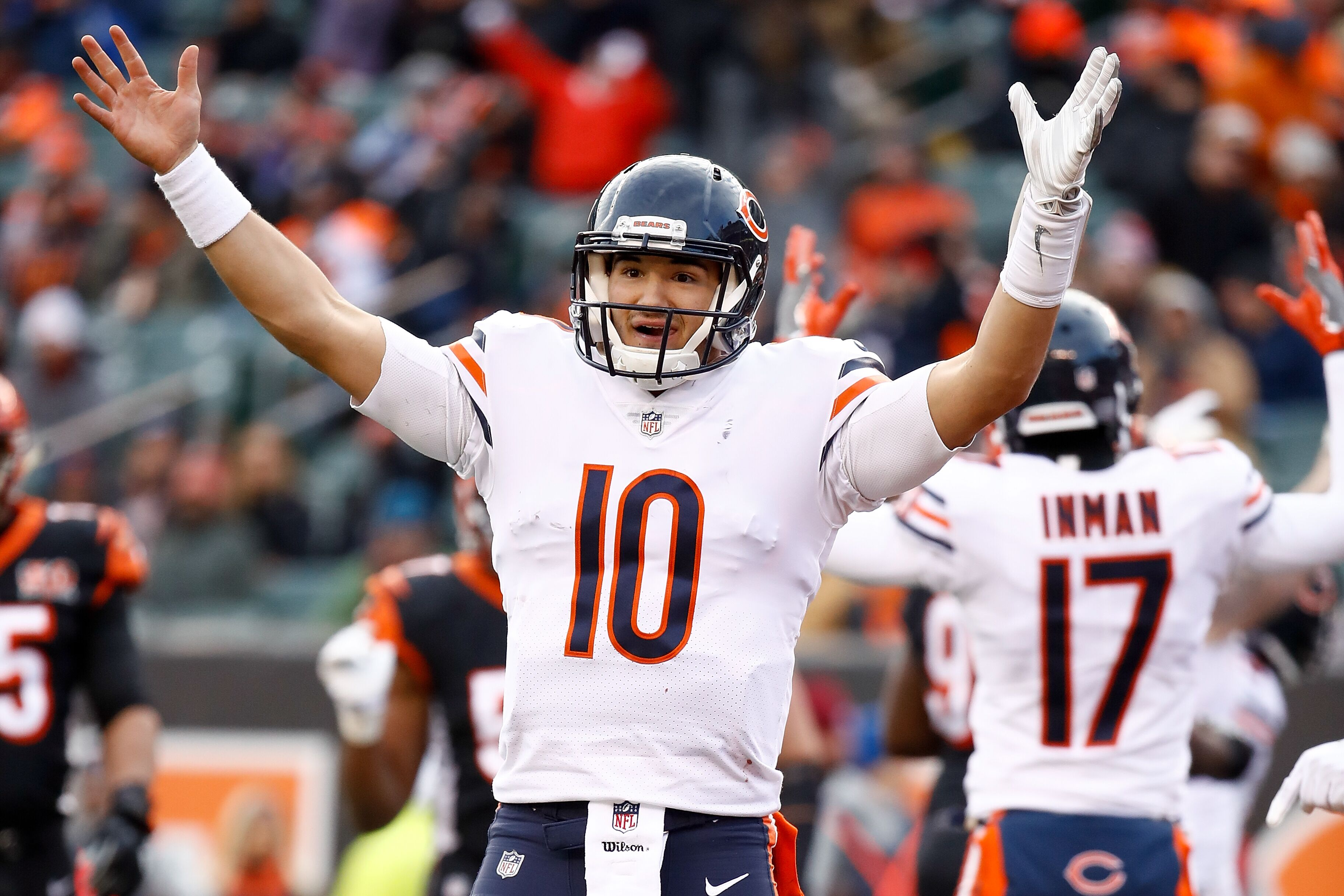 867b8702b Chicago Bears  Mitch Trubisky forming early bond with Kevin White