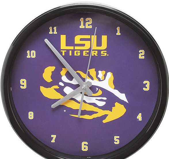 LSU Tigers 23.5″ X 23.5″ Distressed State With Logo Sign