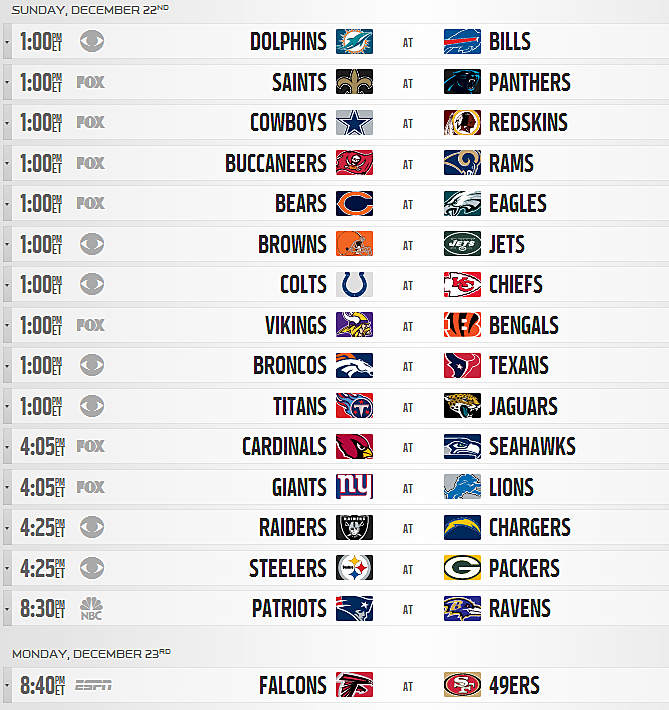 Nfl Schedule 2013 Complete Detroit Lions Regular Season Schedule