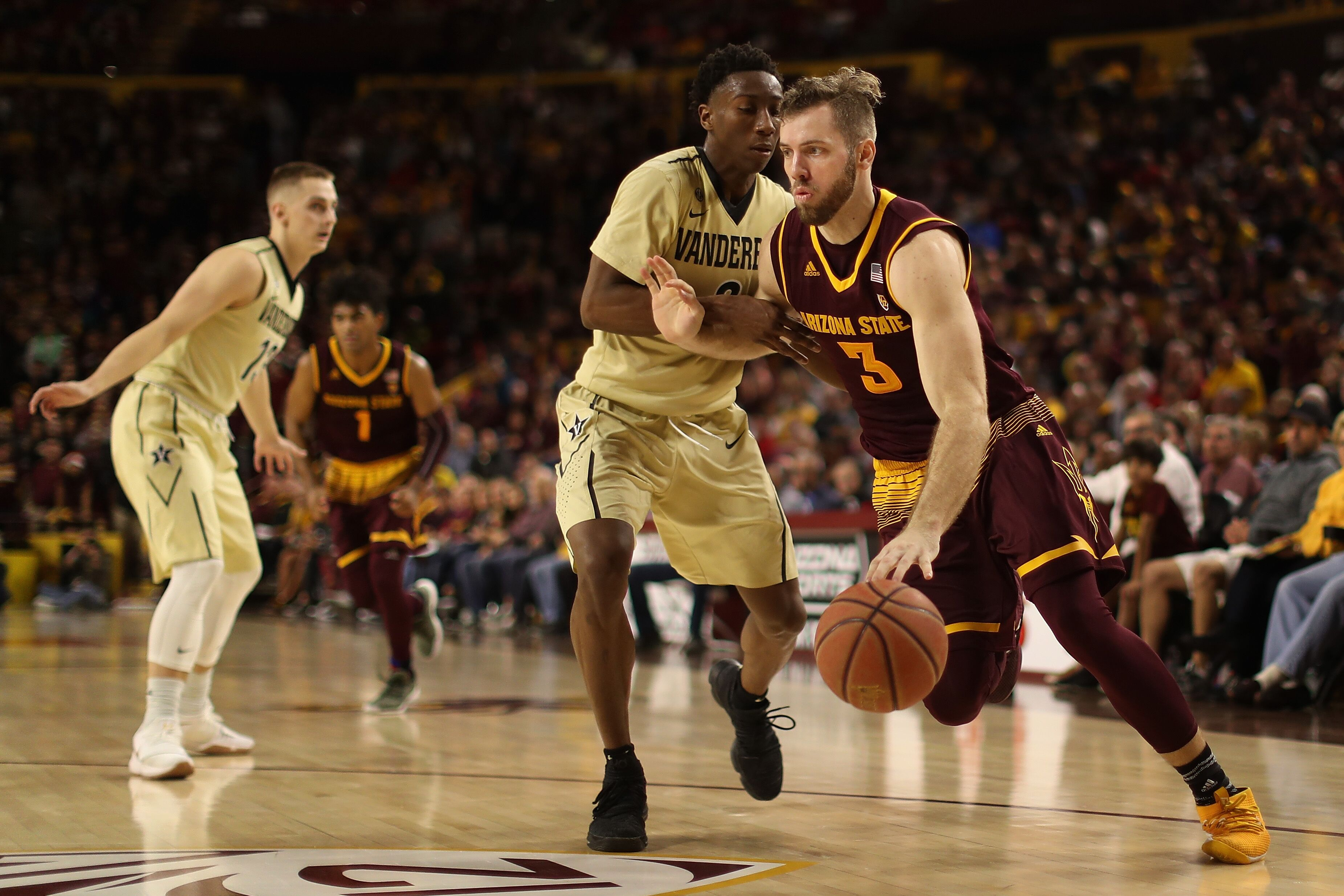 asu basketball: mickey mitchell is a spark getting it done all over