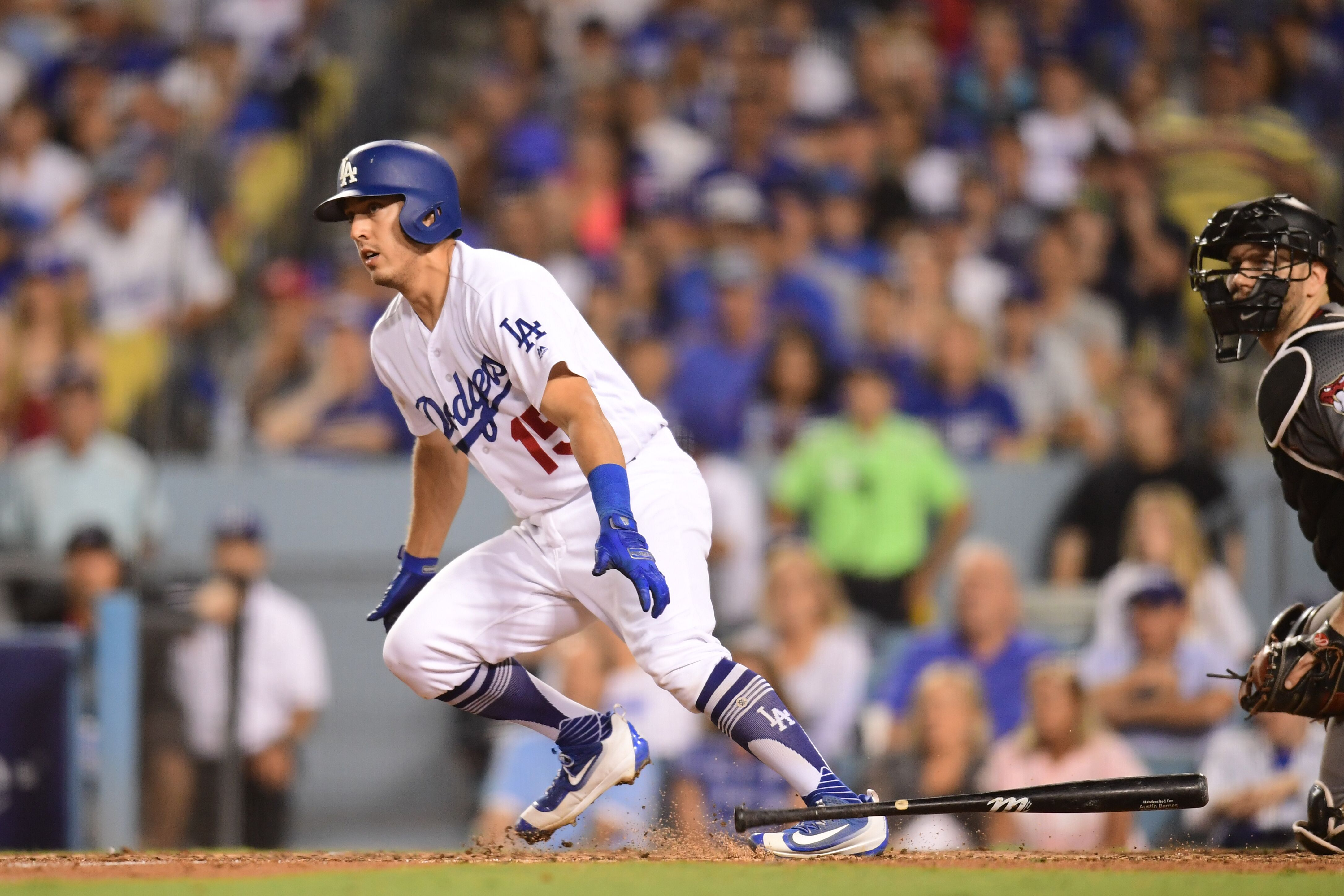 Image result for austin barnes double nlds game 2