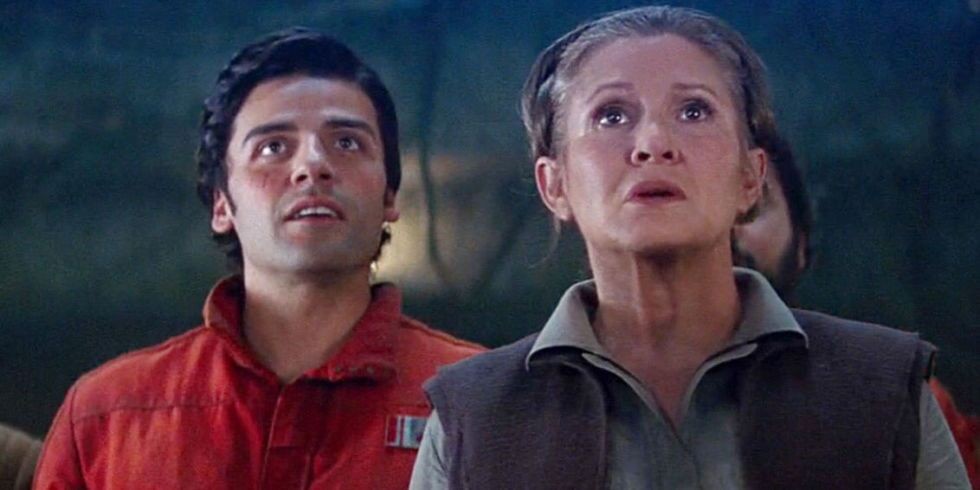 Star Wars: Oscar Isaac gives hint to Fisher's Episode IX footage