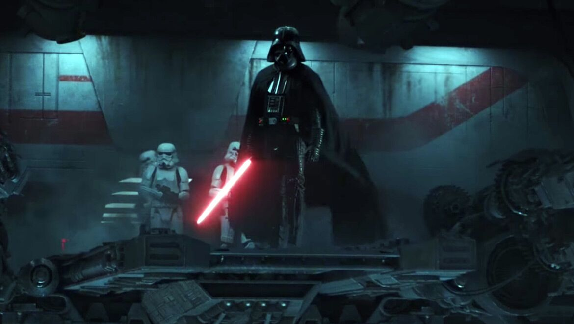 Image result for rogue one final battle vader