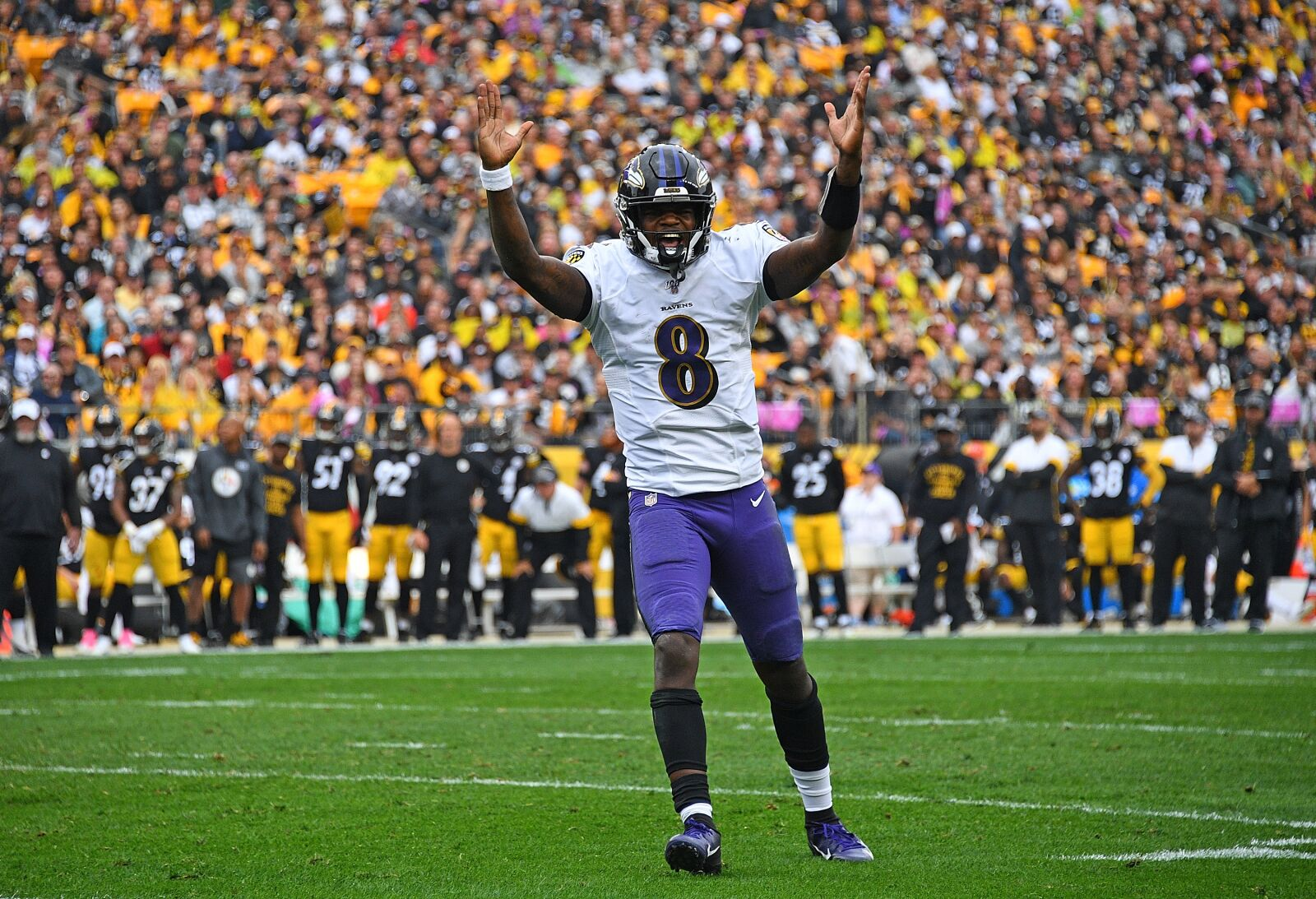 The Baltimore Ravens are perched atop the AFC North throne