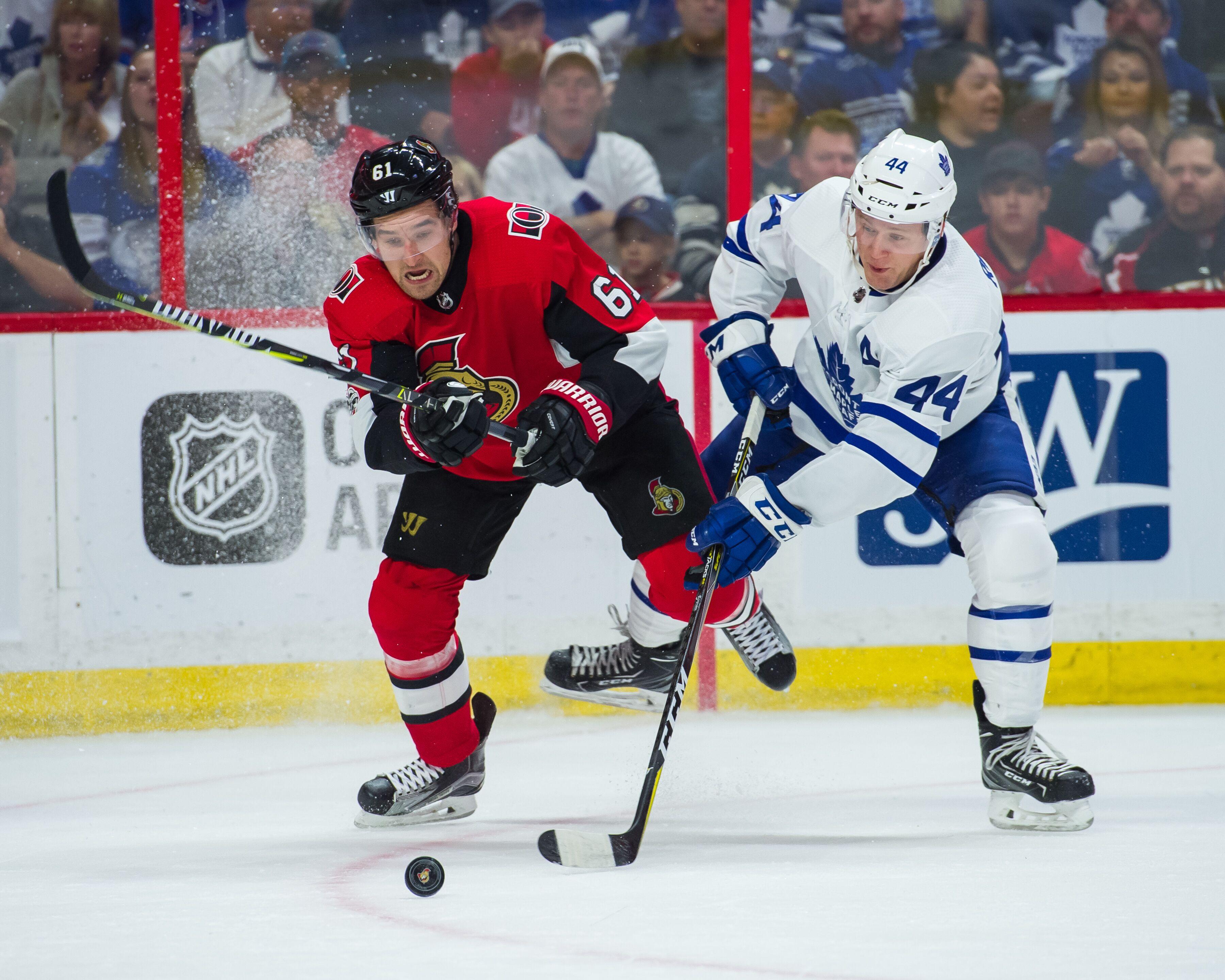 Toronto Maple Leafs Faceoff Against the Ottawa Senators aa99cd983
