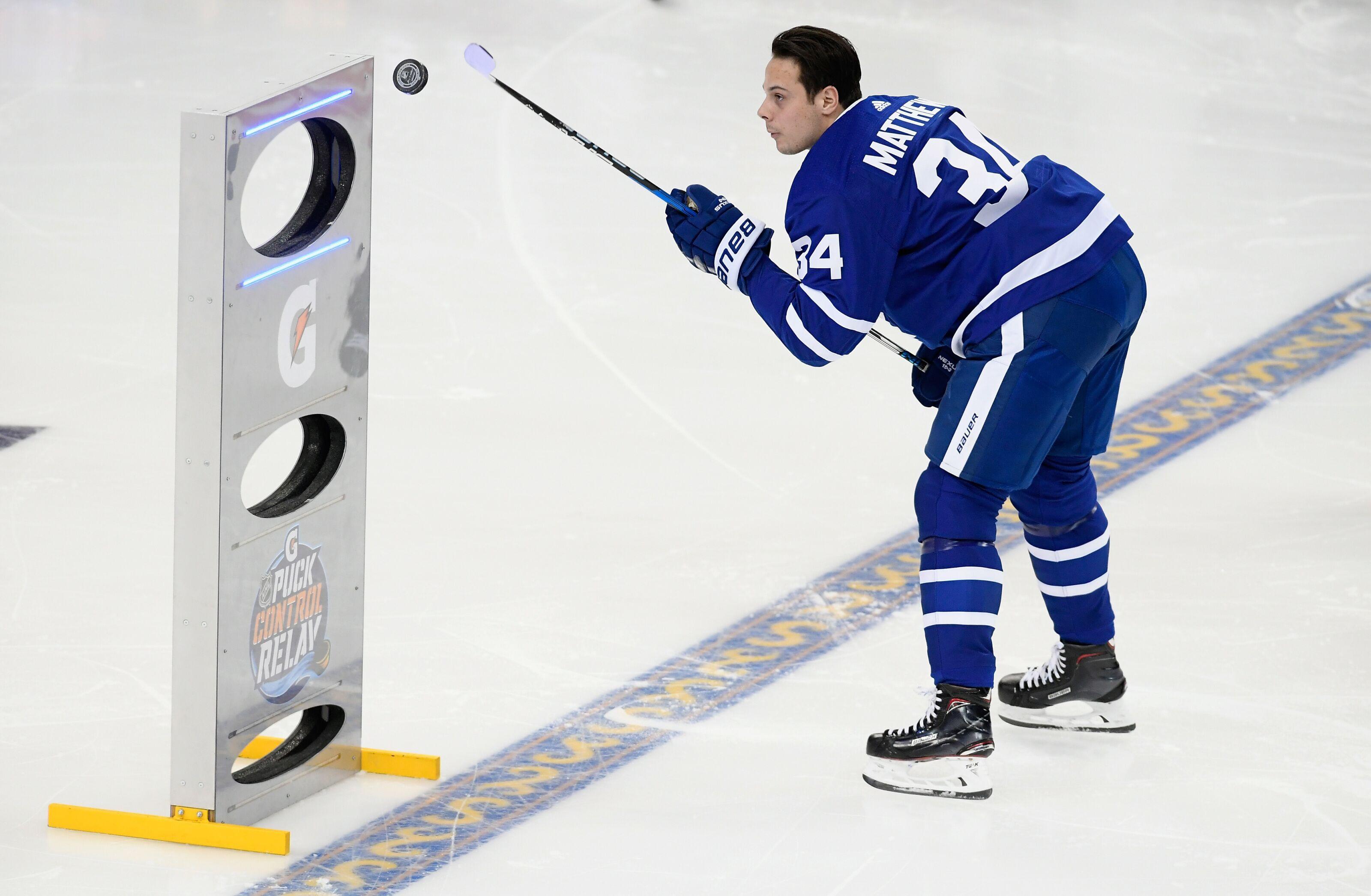 buy popular 581b5 862ca Toronto Maple Leafs: Auston Matthews Wears Marleau Jersey